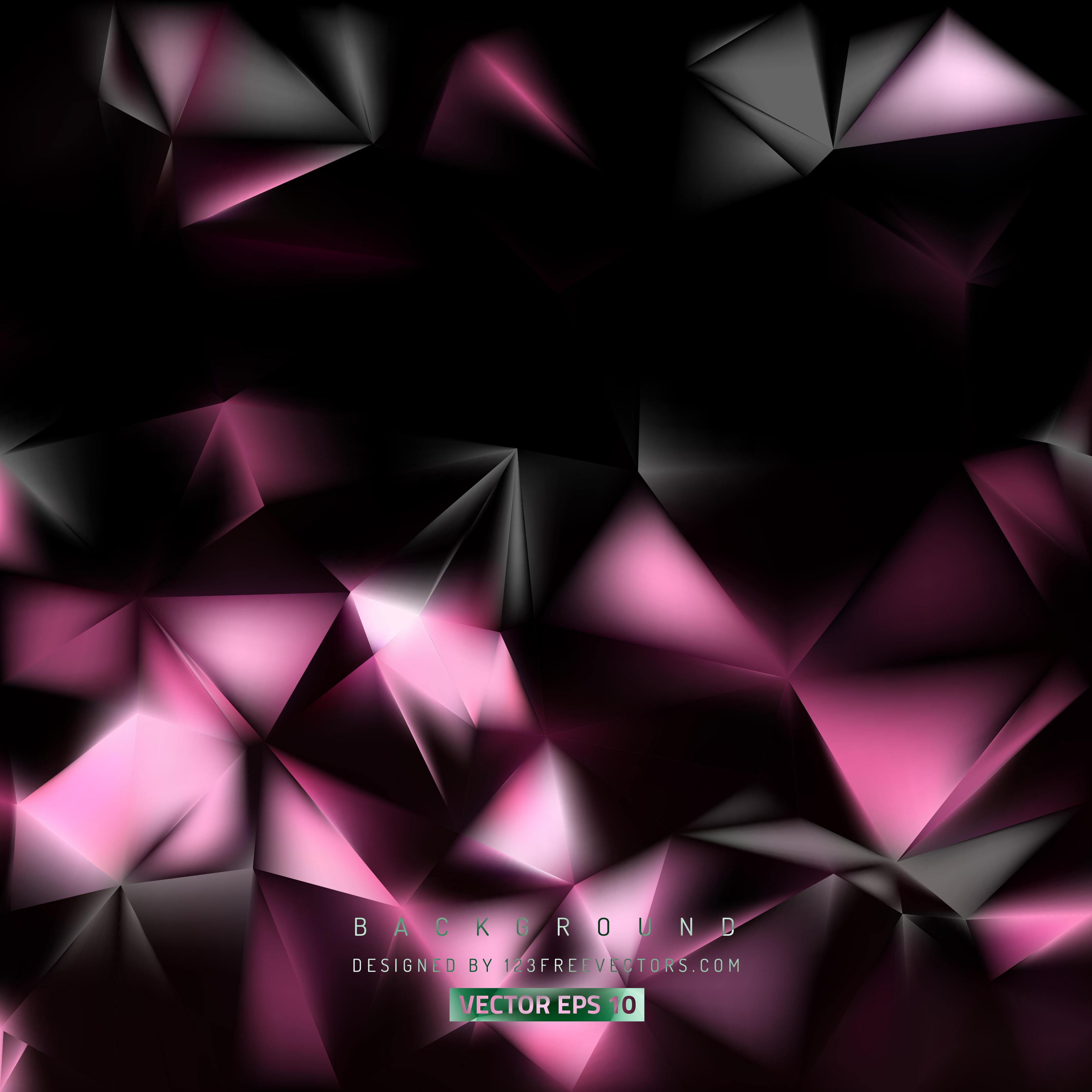 Black Pink Polygon Background TemplatePink And Black Background Vector Designs