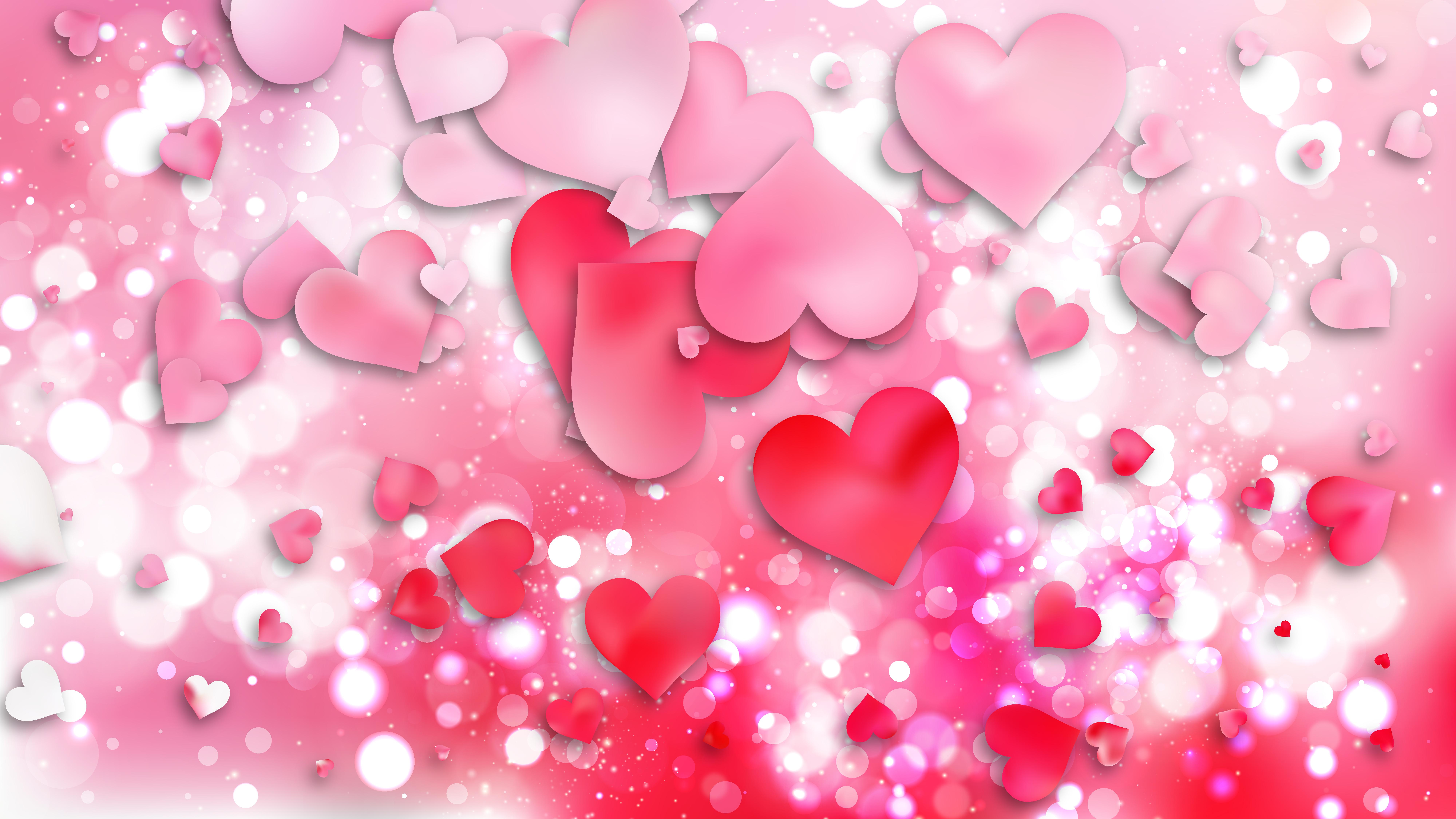 Light Pink Love Background Illustration