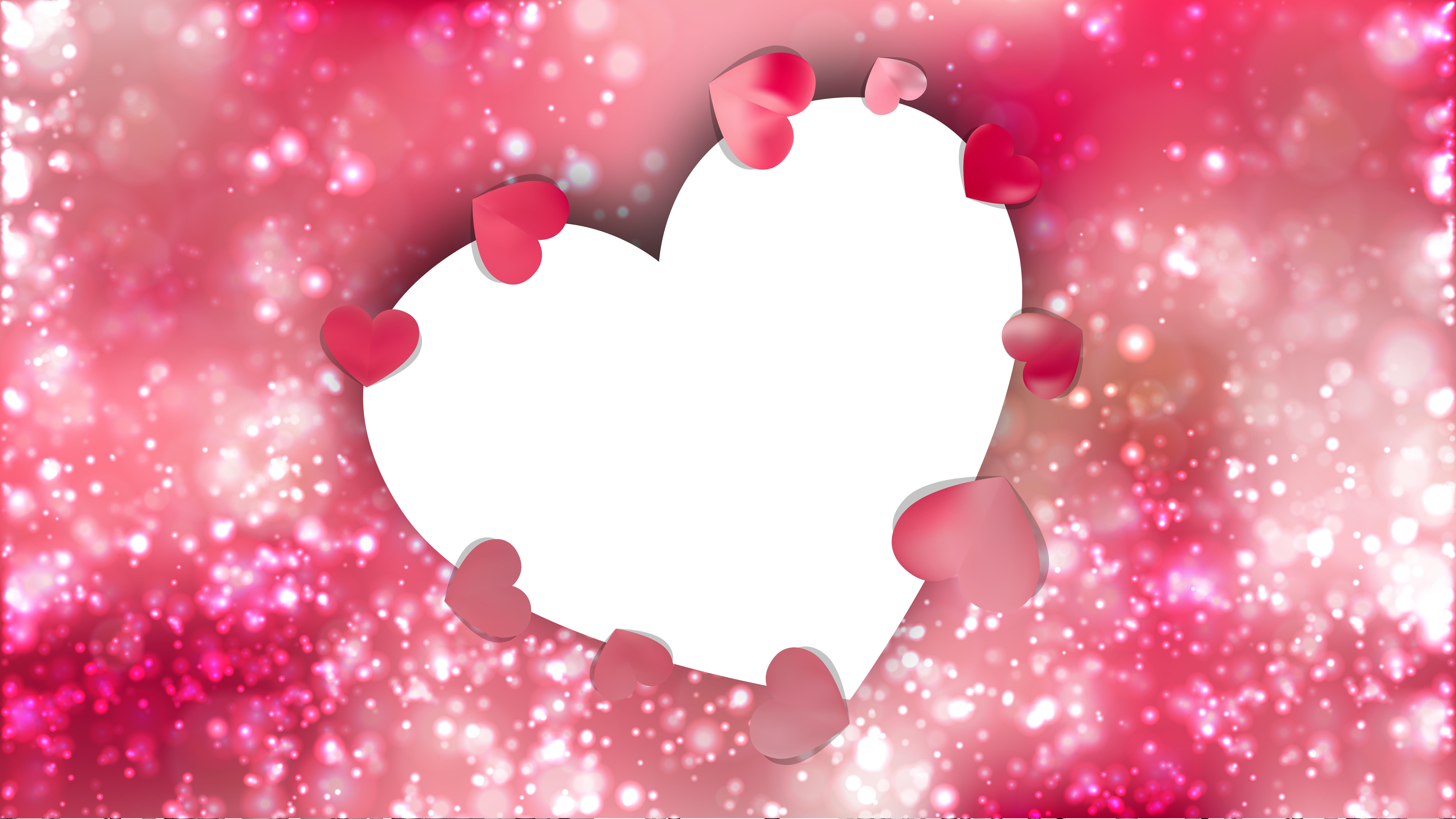 Free Pink Love Background Illustration