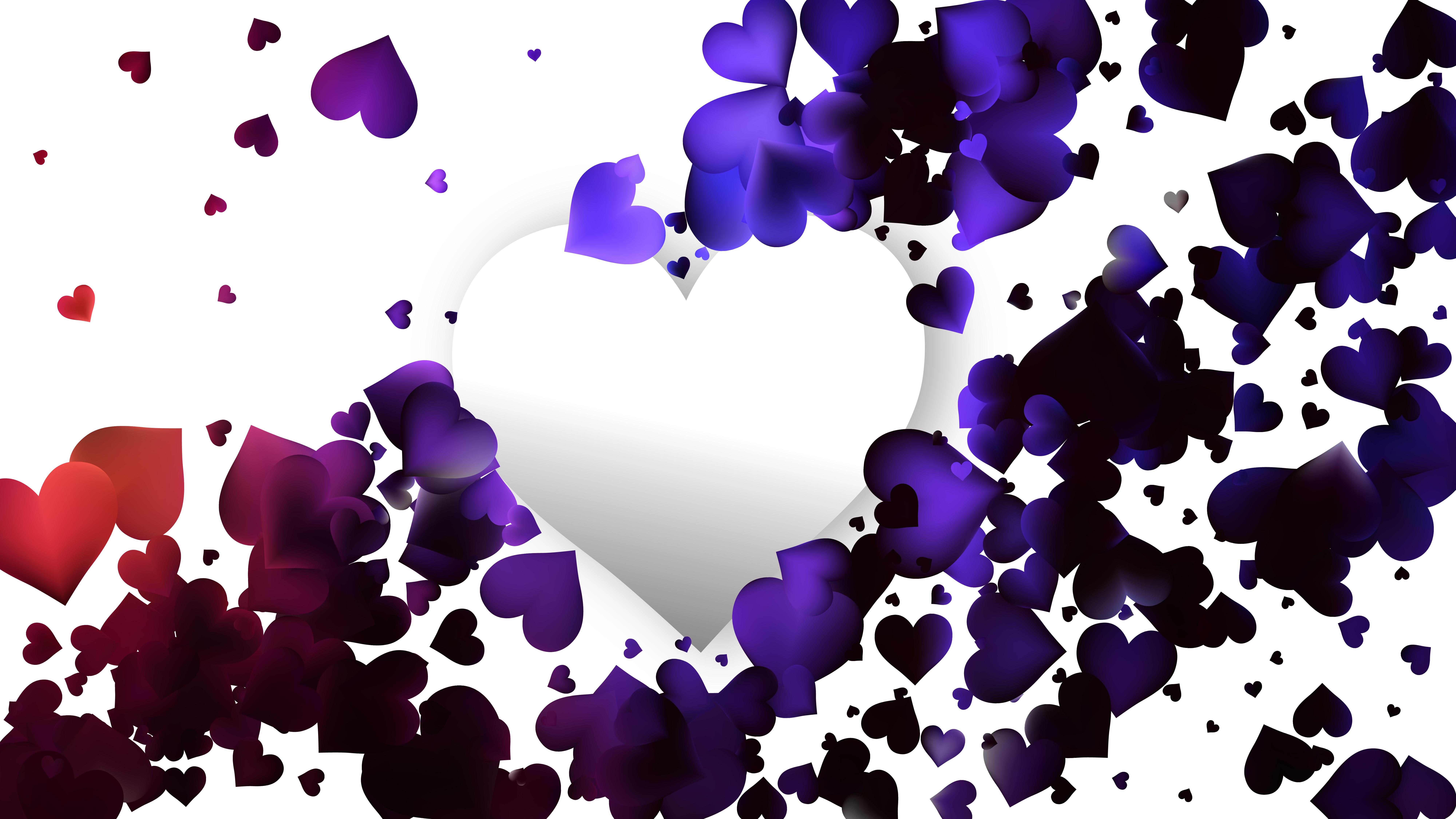 110083 purple and black heart