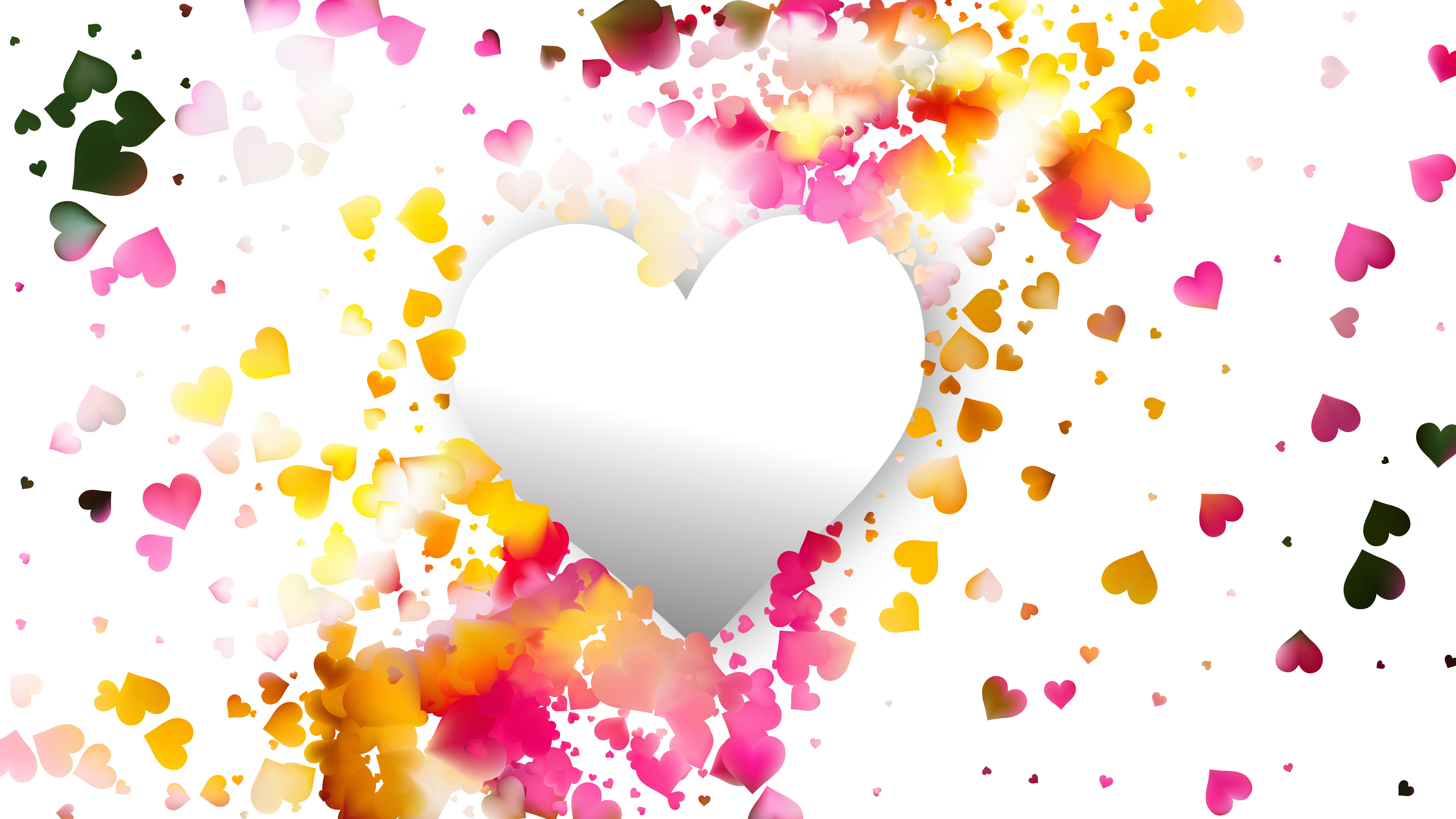 White Heart Wallpaper Background