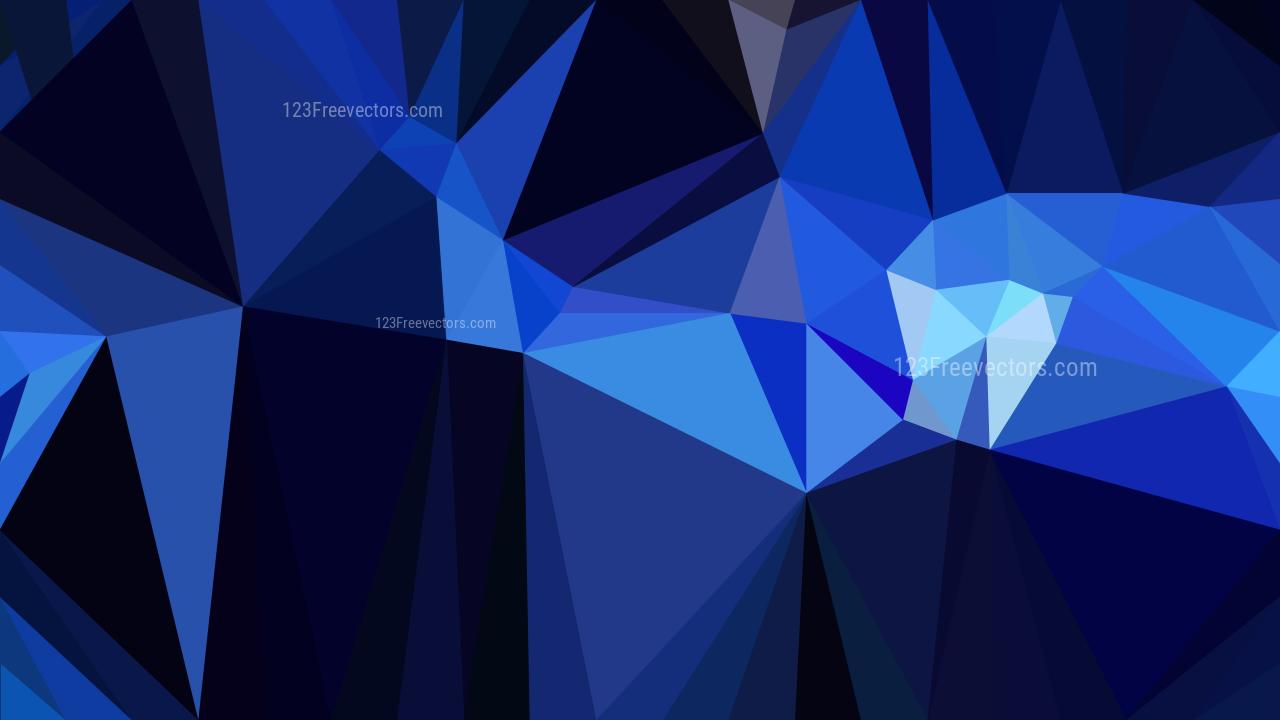 Cool Blue Polygon Background Design