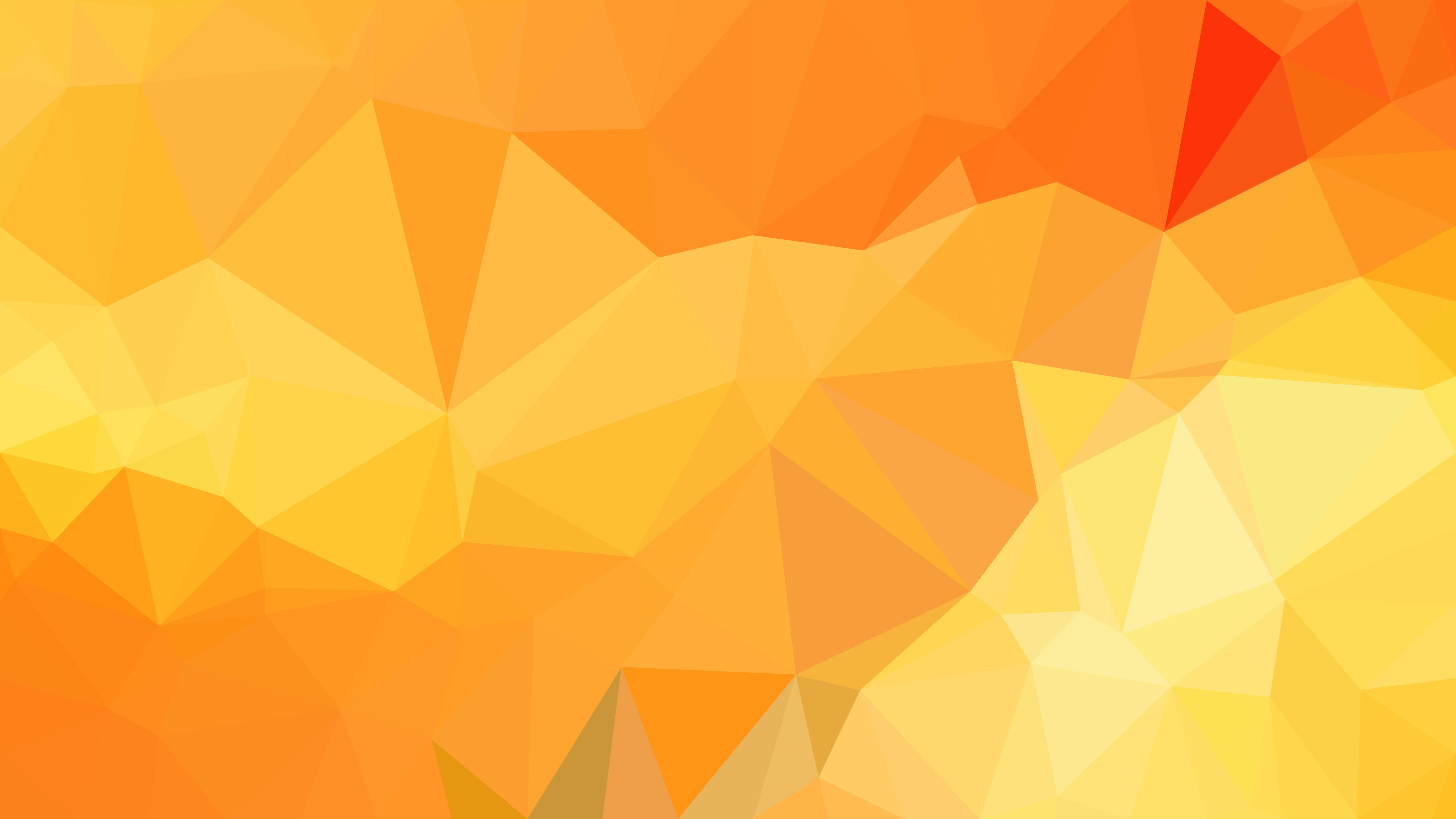 Free Orange And Yellow Polygon Background Design