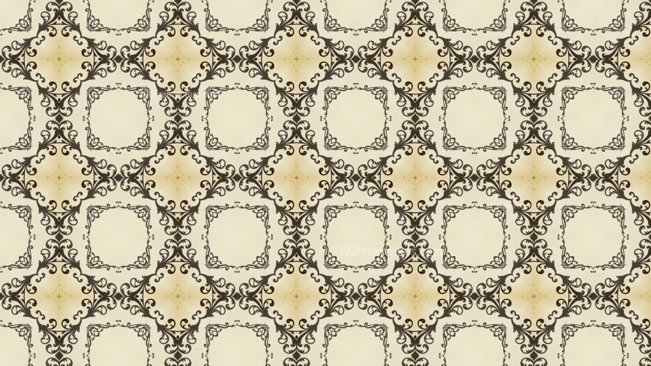Beige Vintage Floral Wallpaper Background