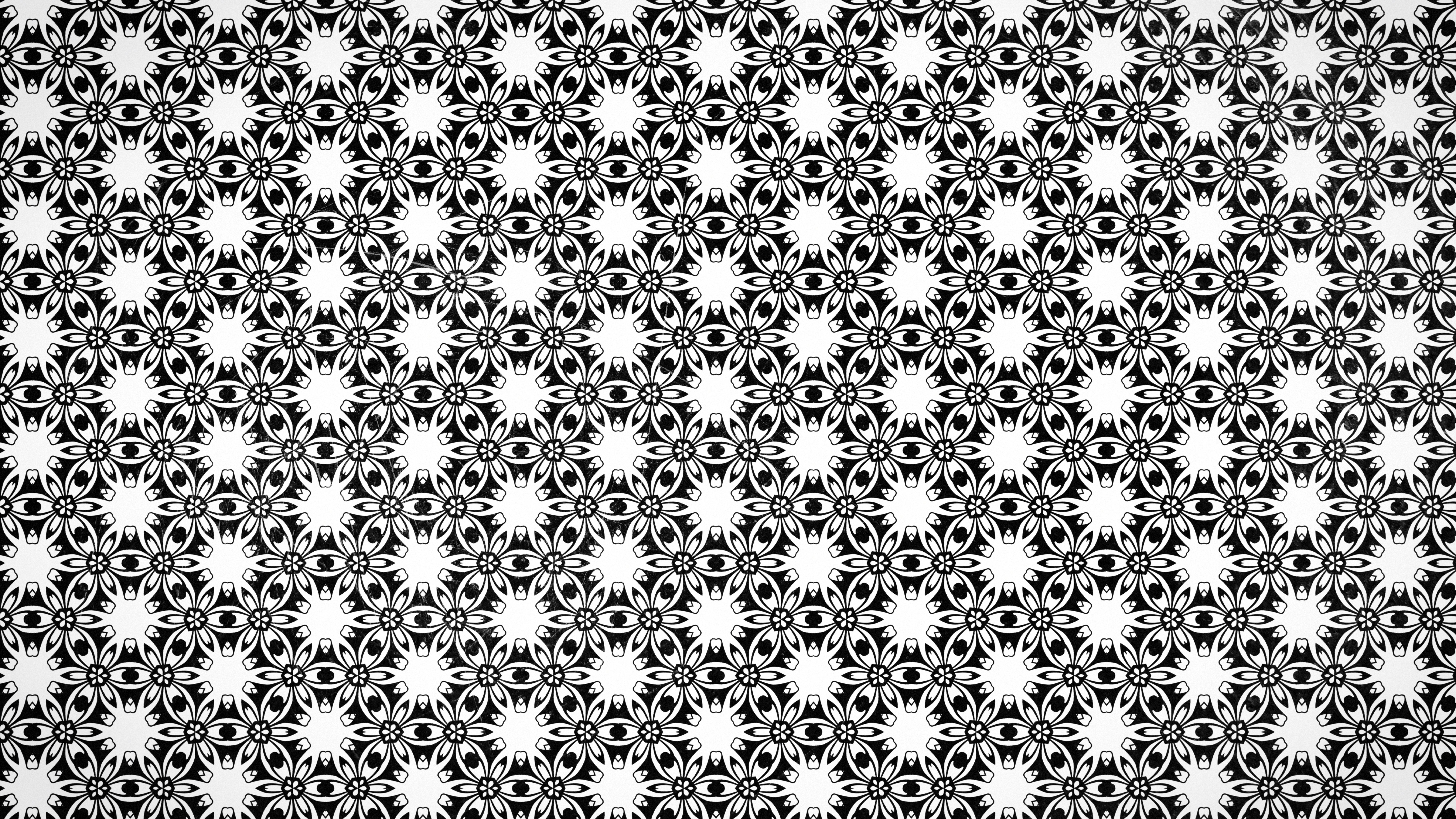 Black And White Vintage Floral Seamless Pattern Wallpaper Design
