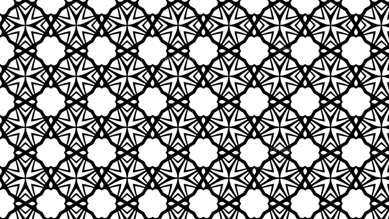 Black And White Geometric Seamless Pattern Wallpaper Image
