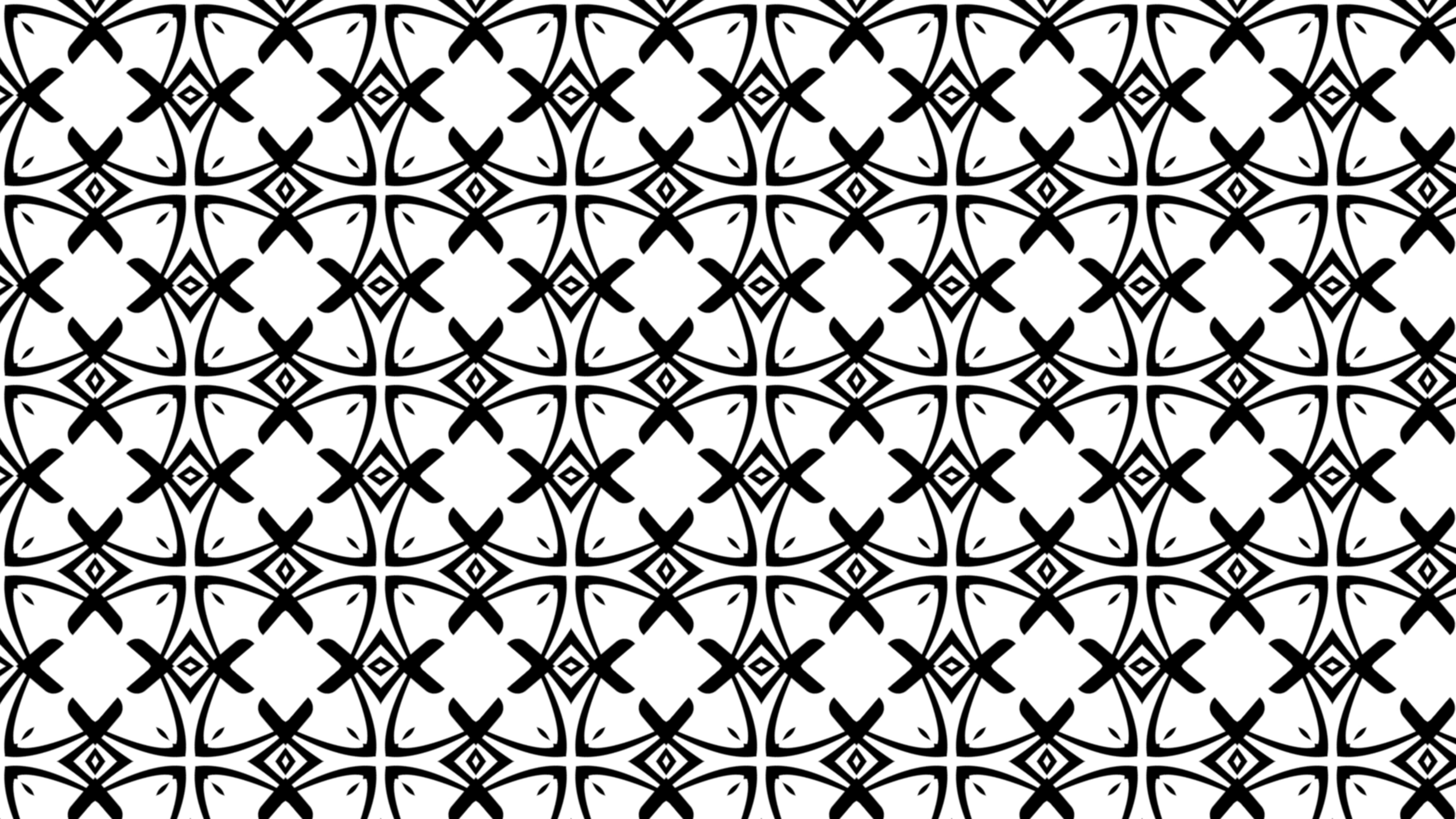 Black And White Geometric Ornament Wallpaper Pattern Design