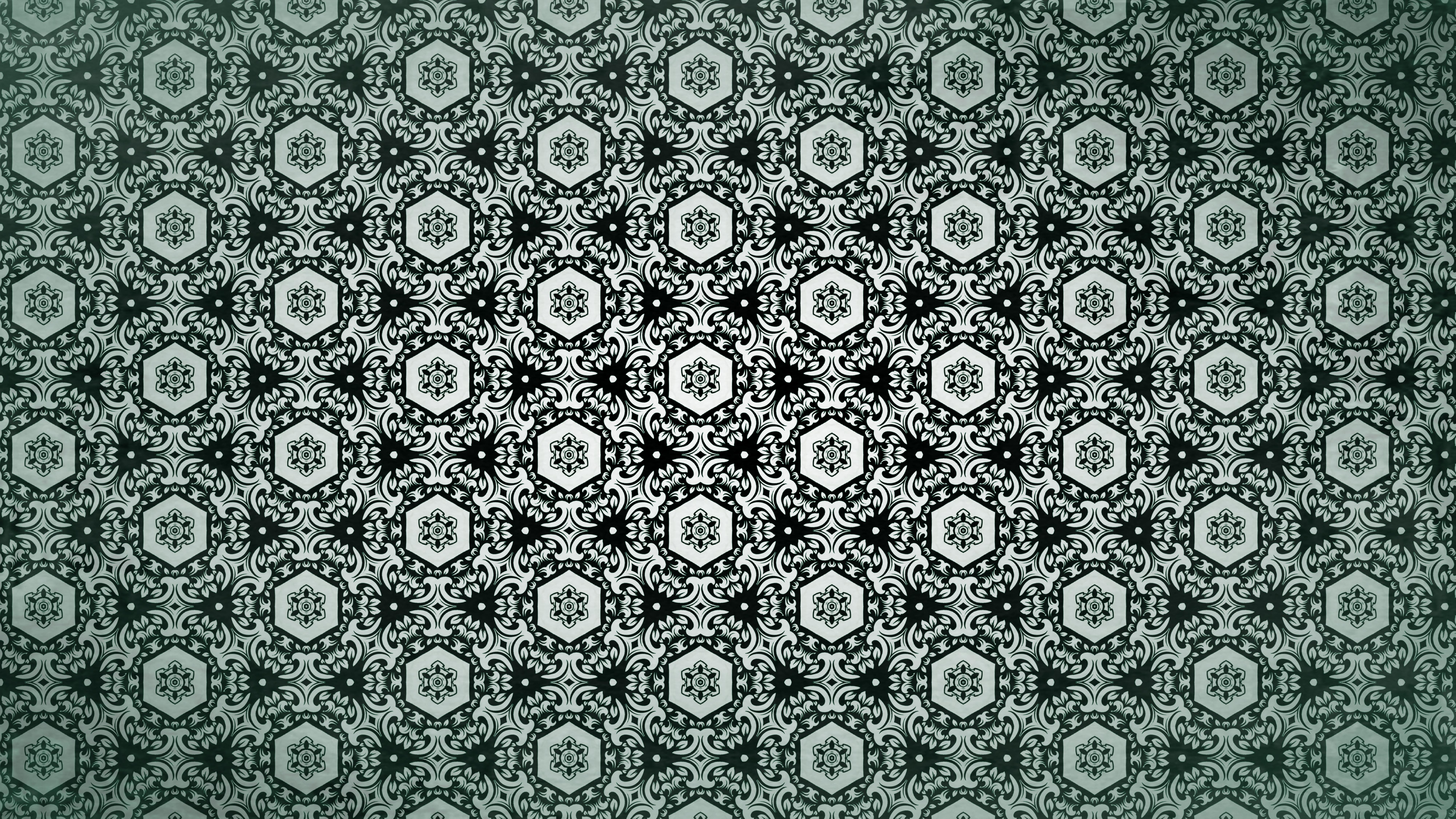 Dark Green Vintage Seamless Floral Background Pattern