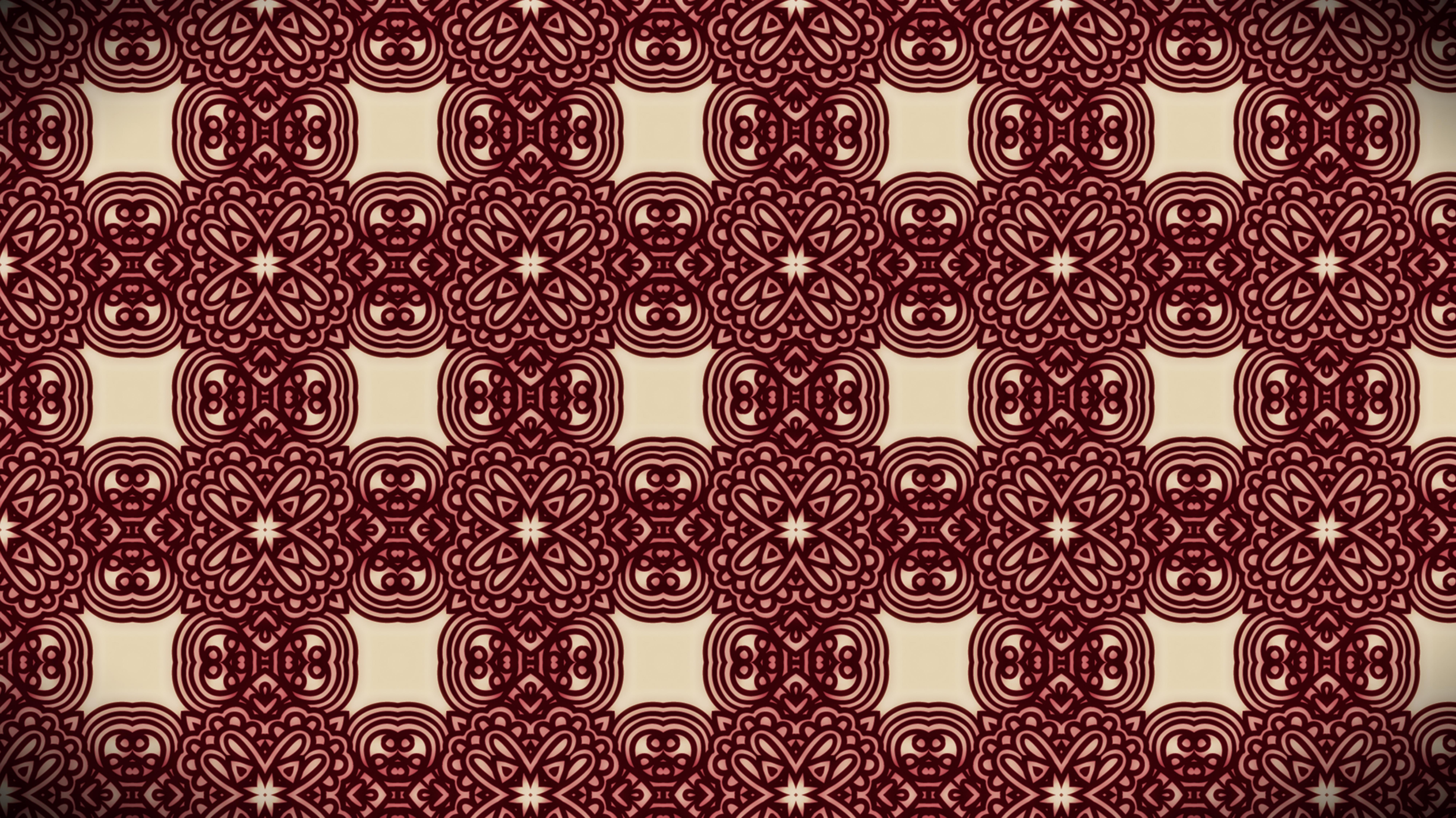 Dark Red Vintage Floral Pattern Texture Background Template