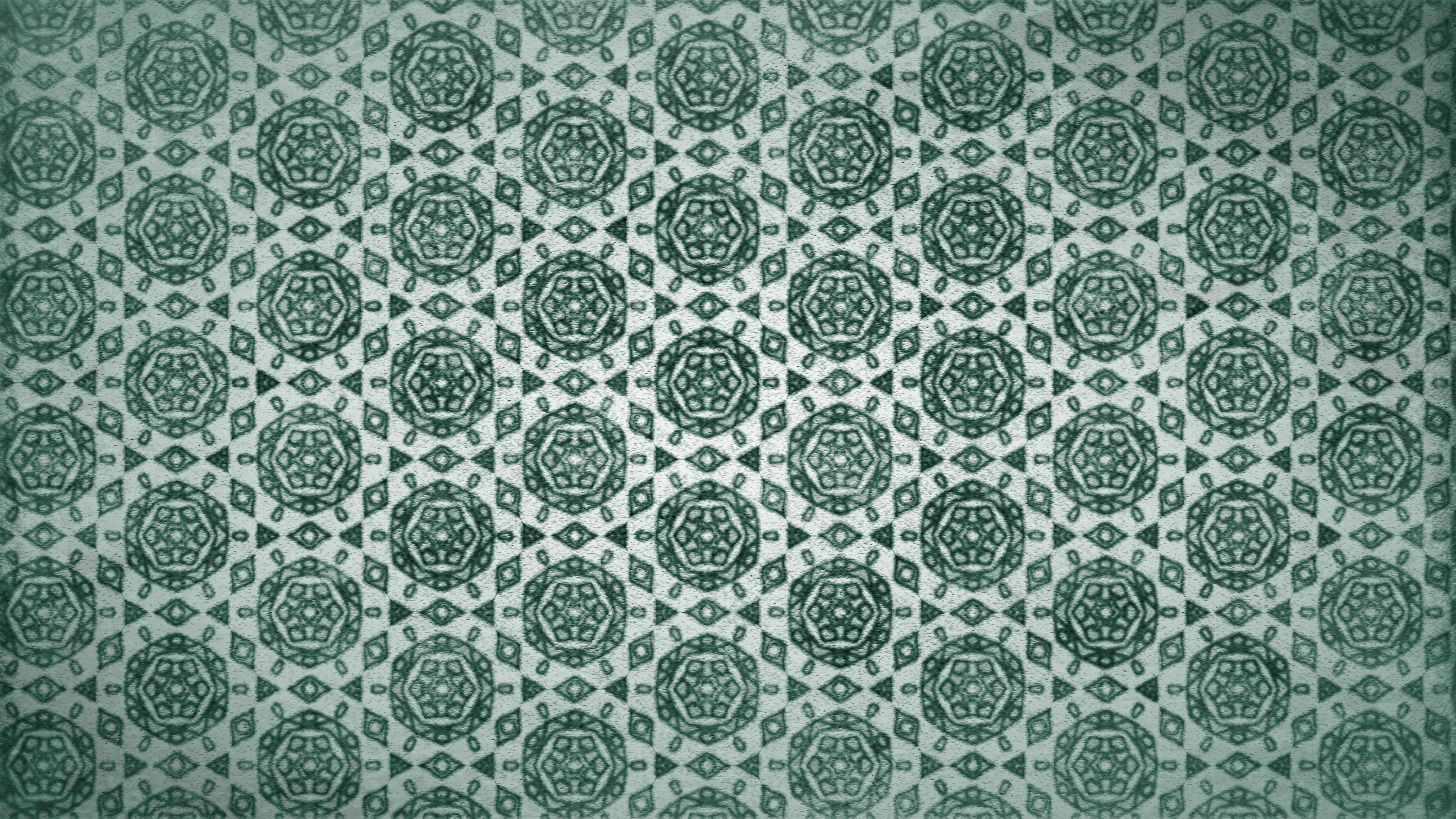 Green Vintage Floral Wallpaper Background