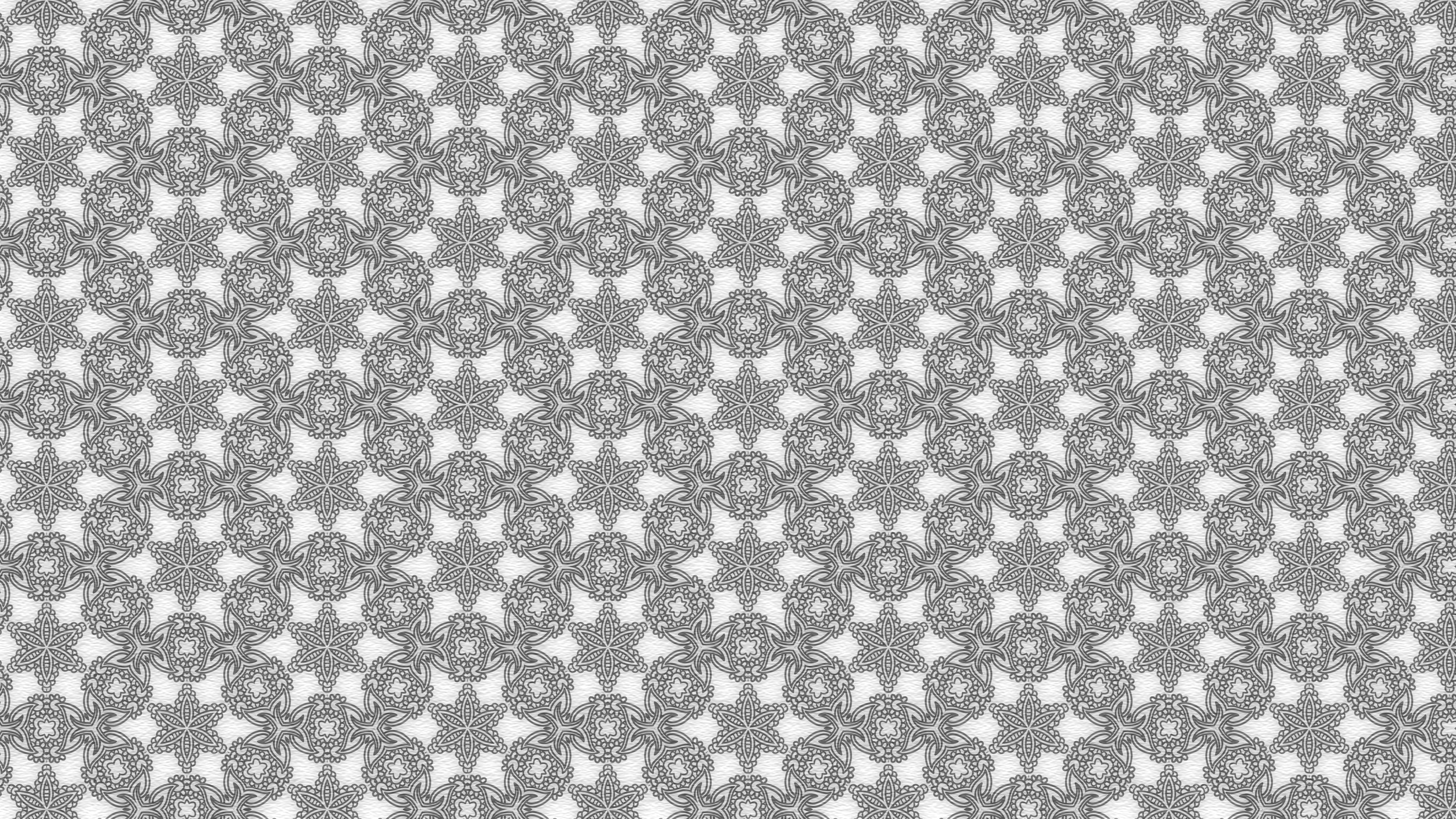Gray Vintage Floral Pattern Background