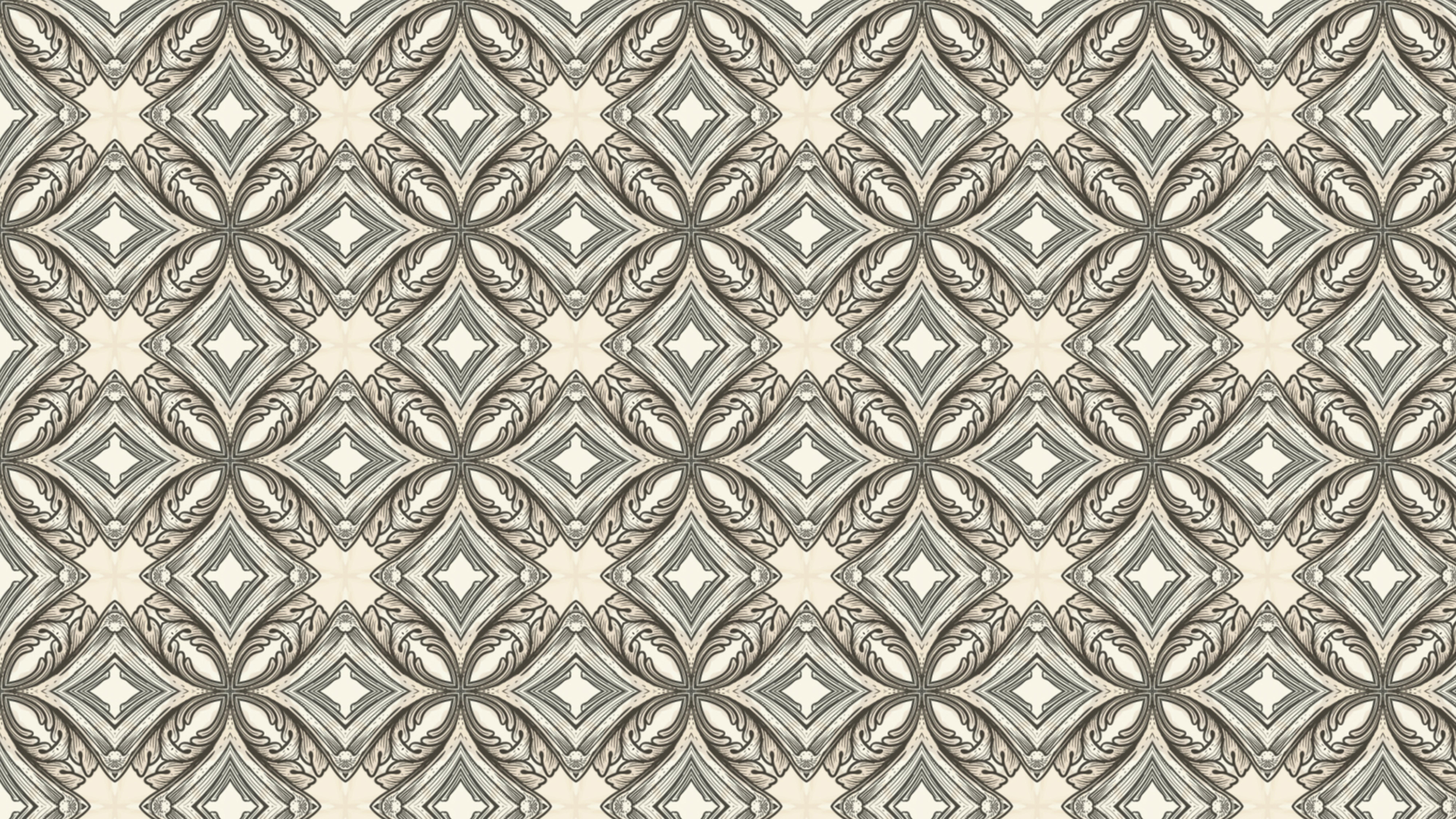 Light Brown Vintage Seamless Floral Background Pattern
