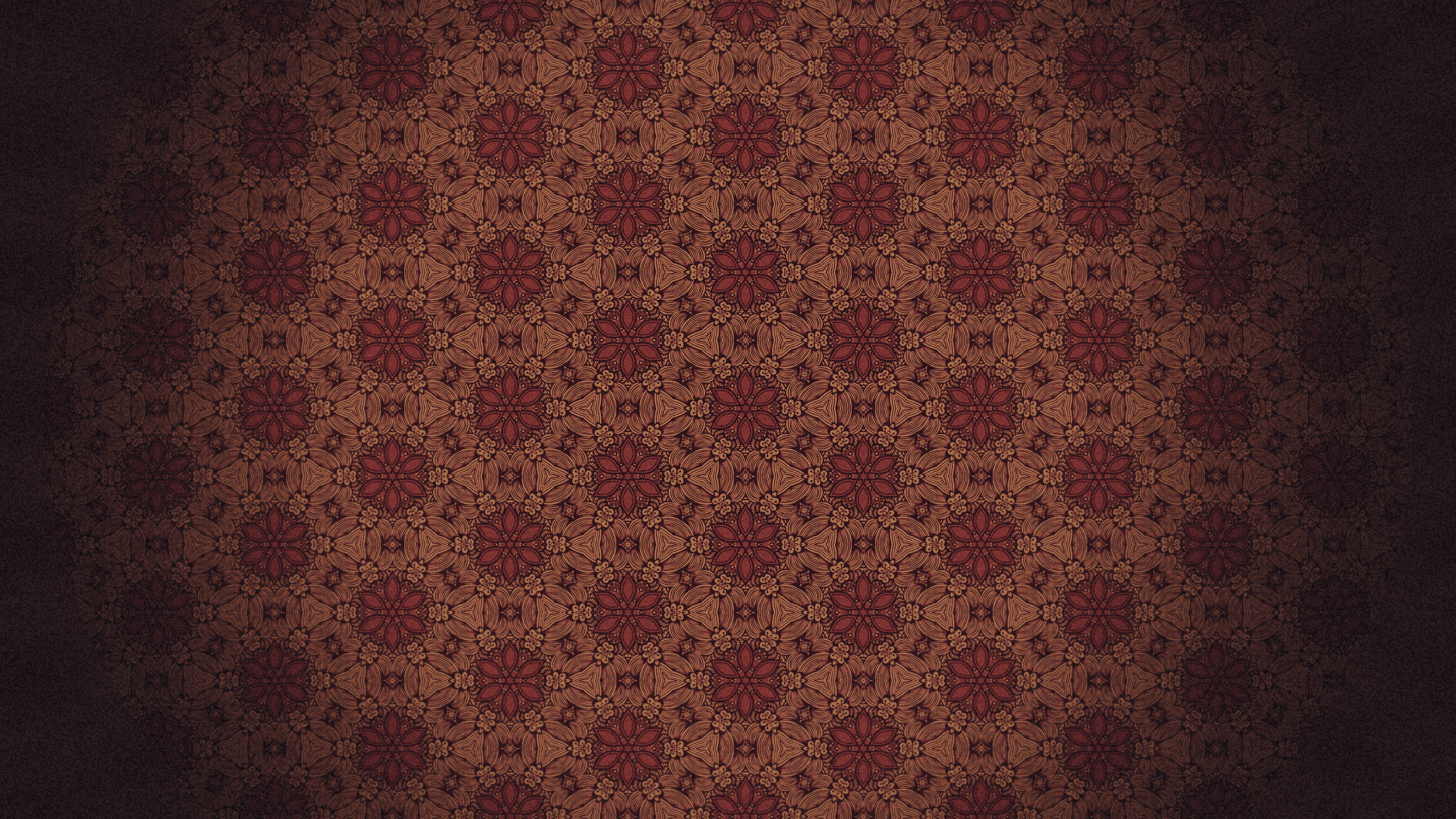 Red And Black Vintage Floral Seamless Pattern Wallpaper Design