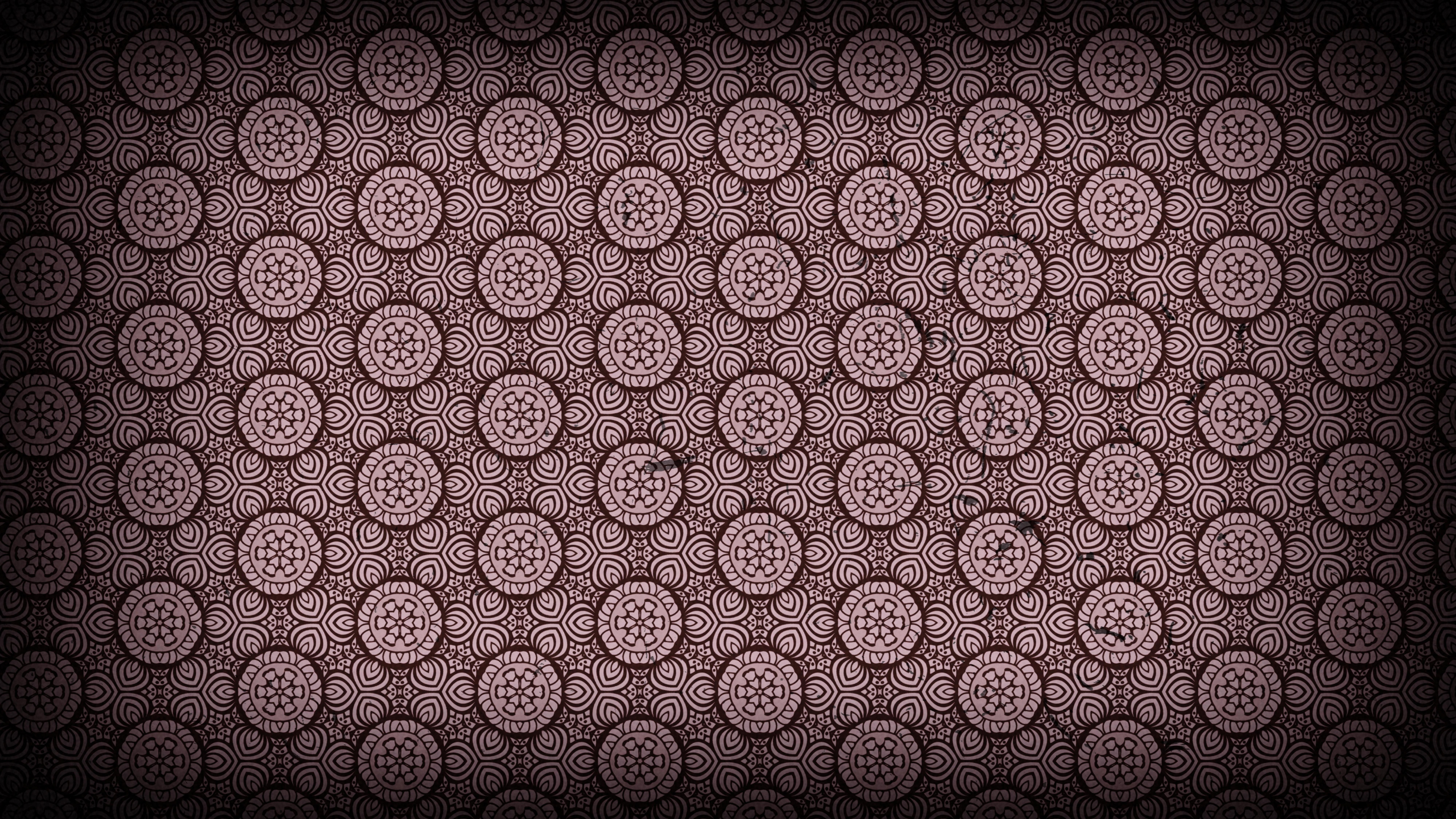 Red And Black Vintage Ornamental Pattern Wallpaper