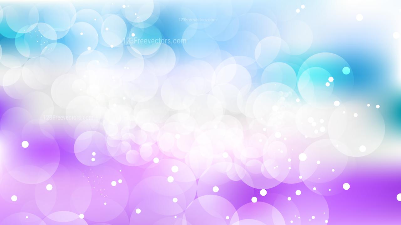 Blue Purple And White Bokeh Defocused Lights Background