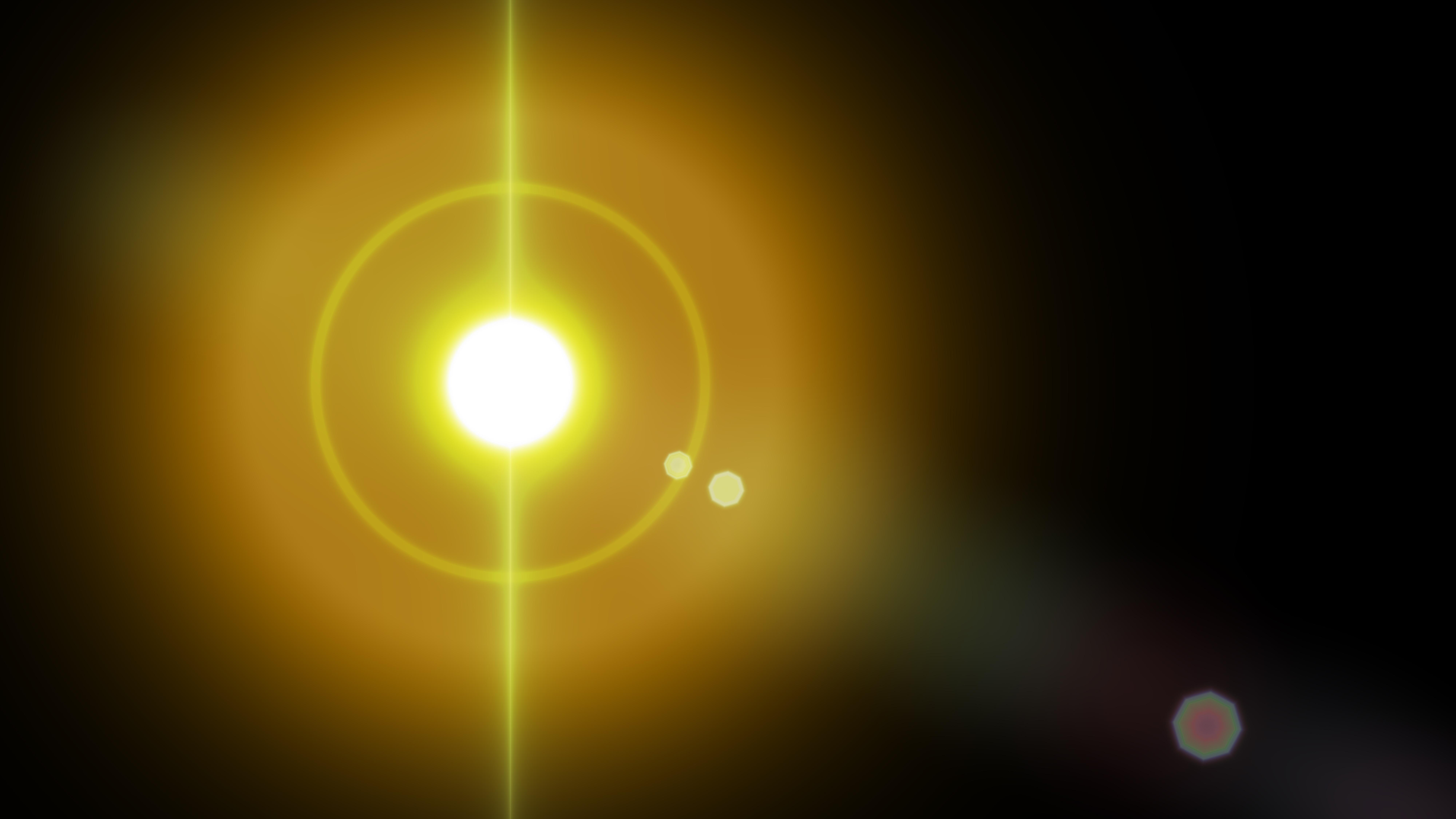 Free Orange And Black Flare Light Flash Background