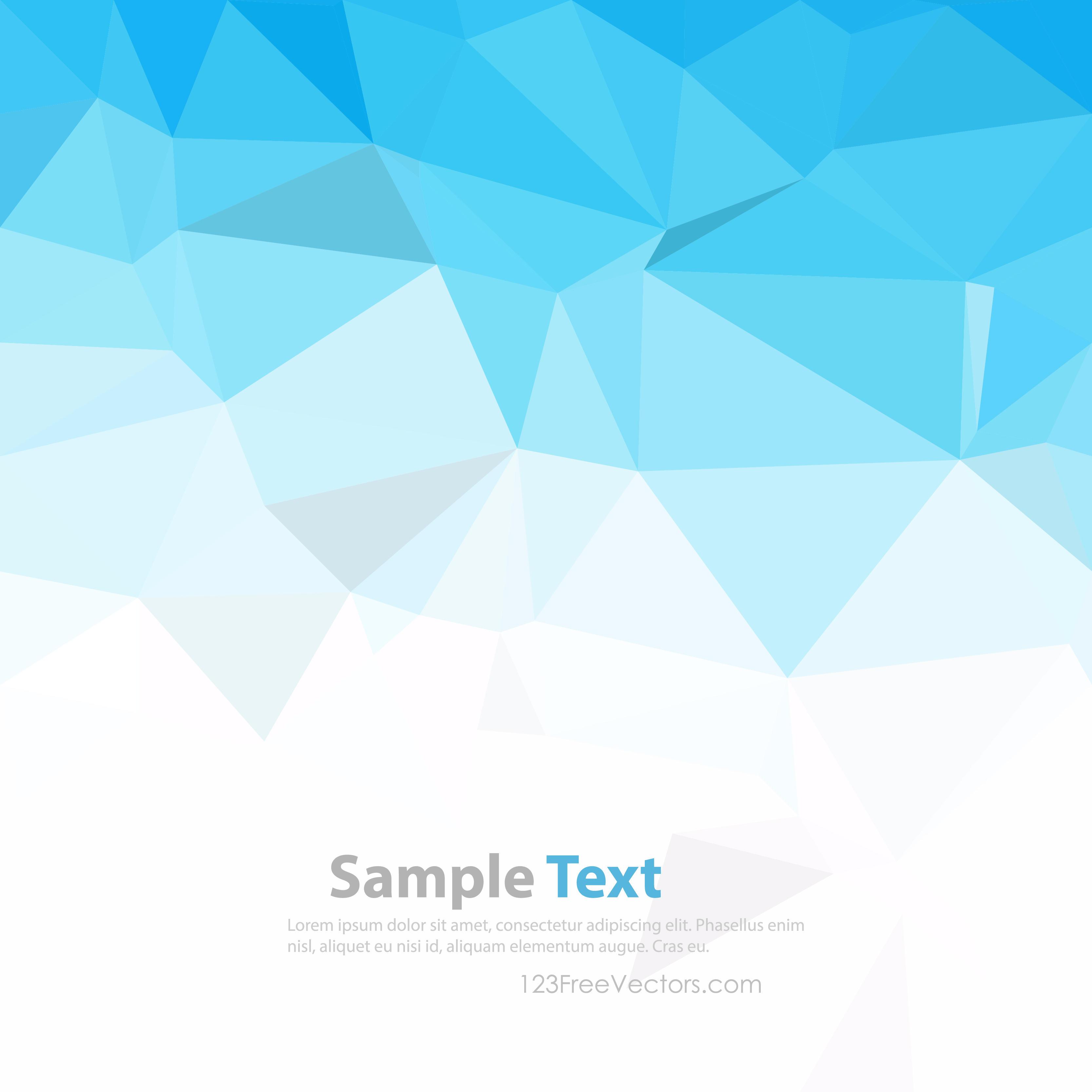 Polygonal Triangular Light Blue Wallpaper Background