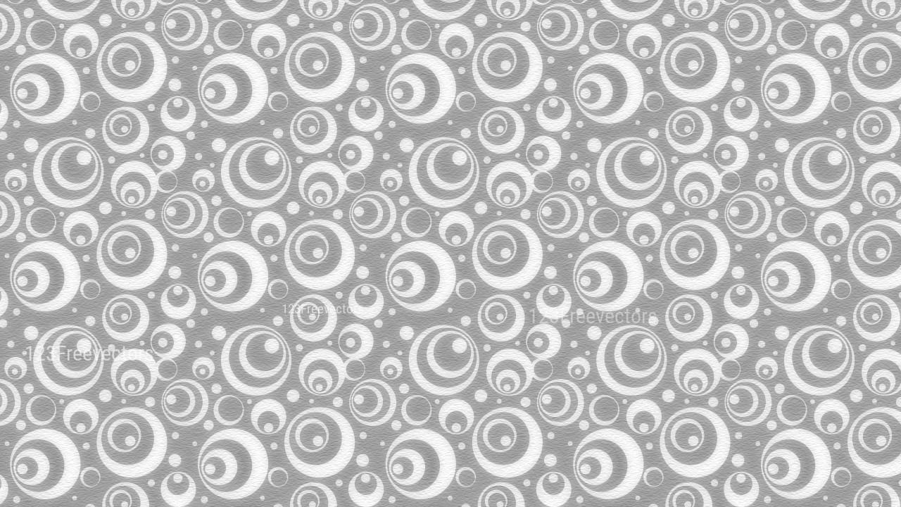 Grey and White Seamless Geometric Circle Background Pattern Image