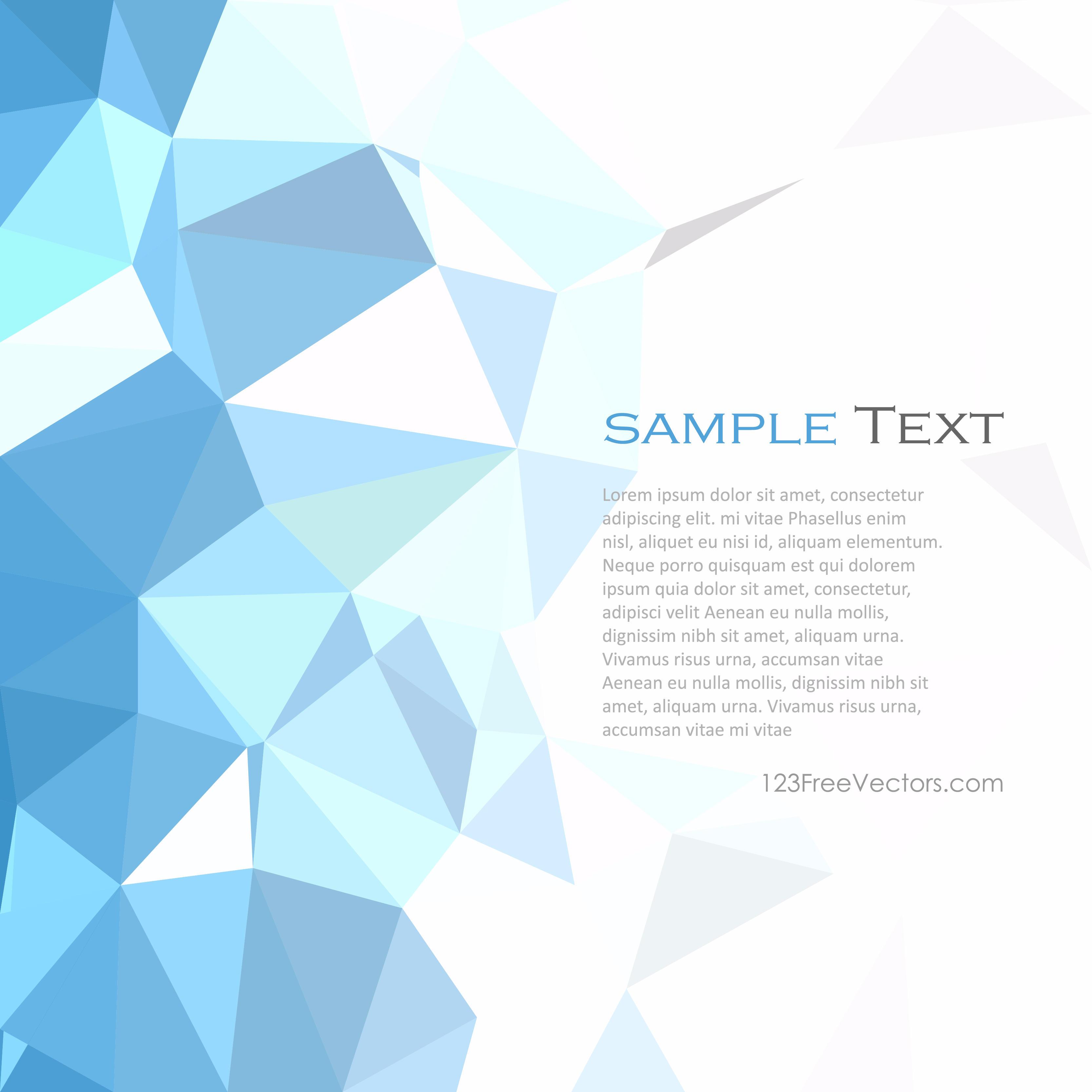 Geometric Polygon Light Blue Background Template