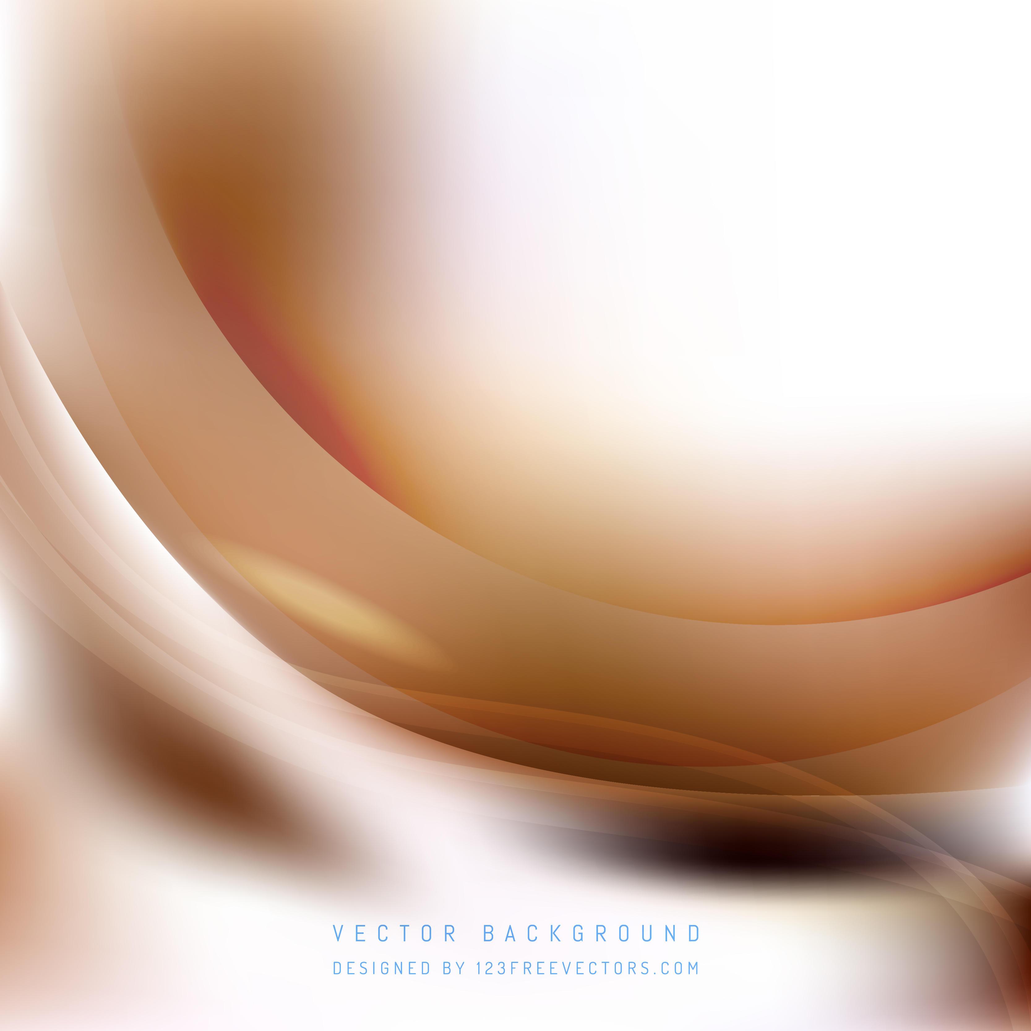 White Brown Wave Background Design