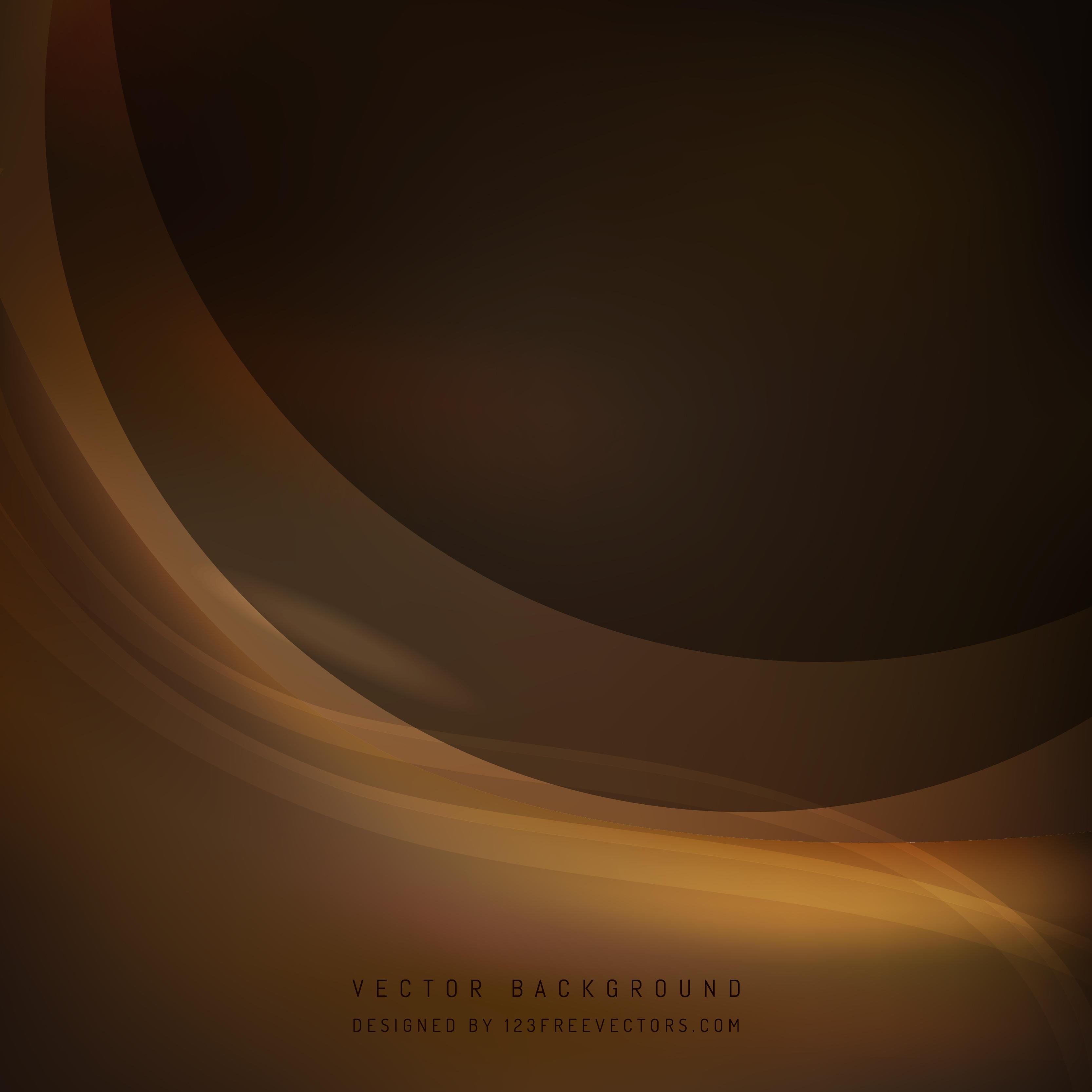 Abstract Dark Brown Wave Background