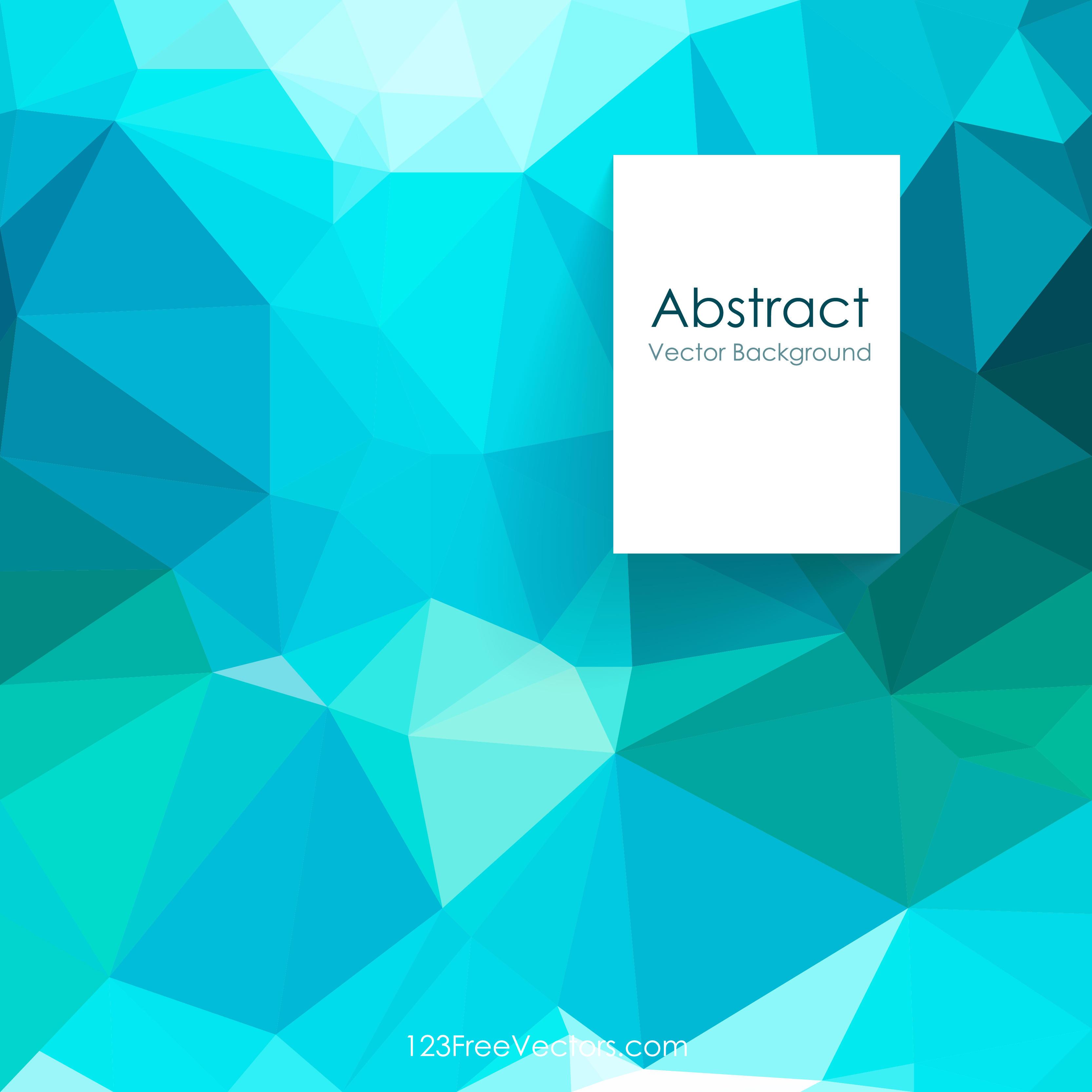 Dark Turquoise Geometric Polygon Background Free