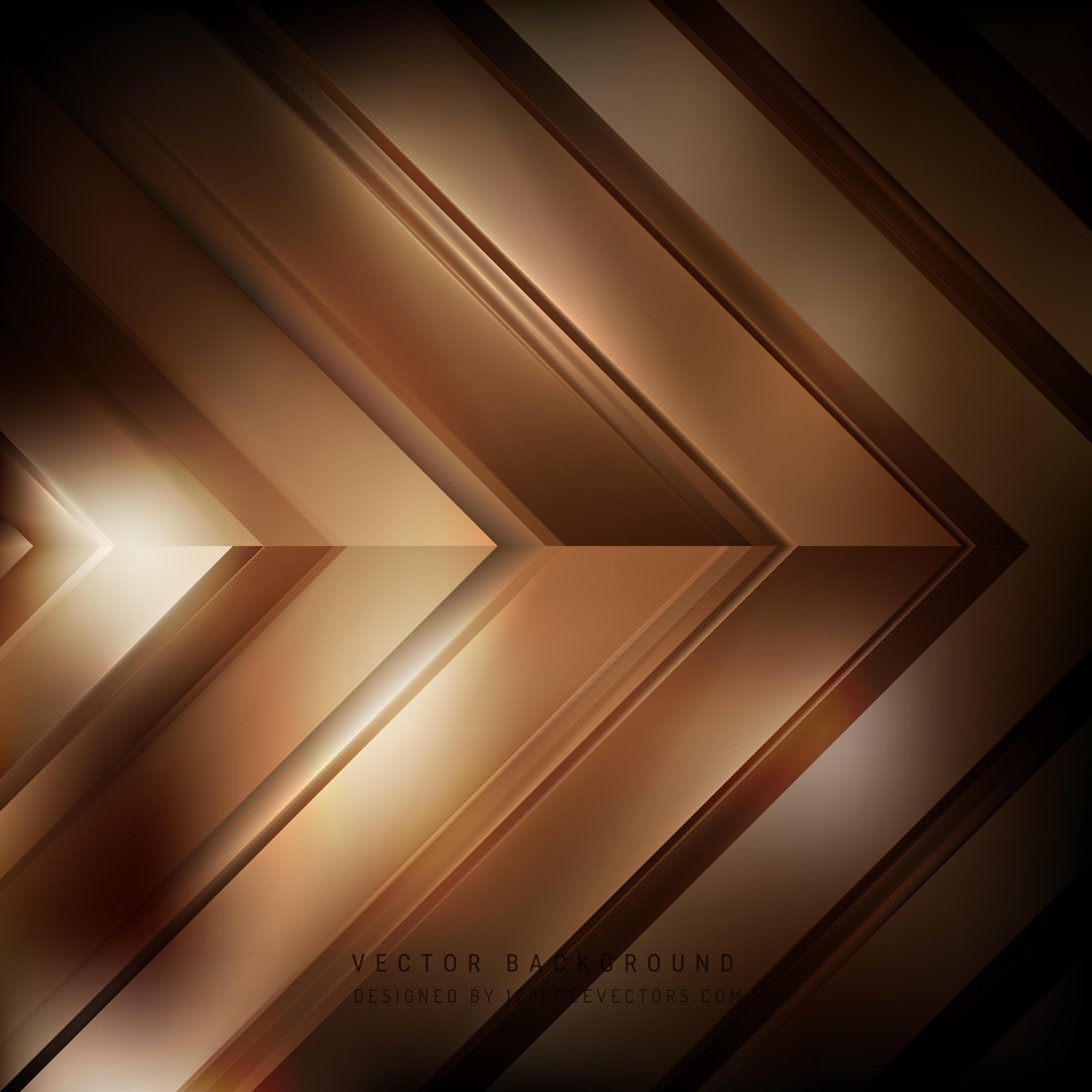 Abstract Dark Brown Arrow Background