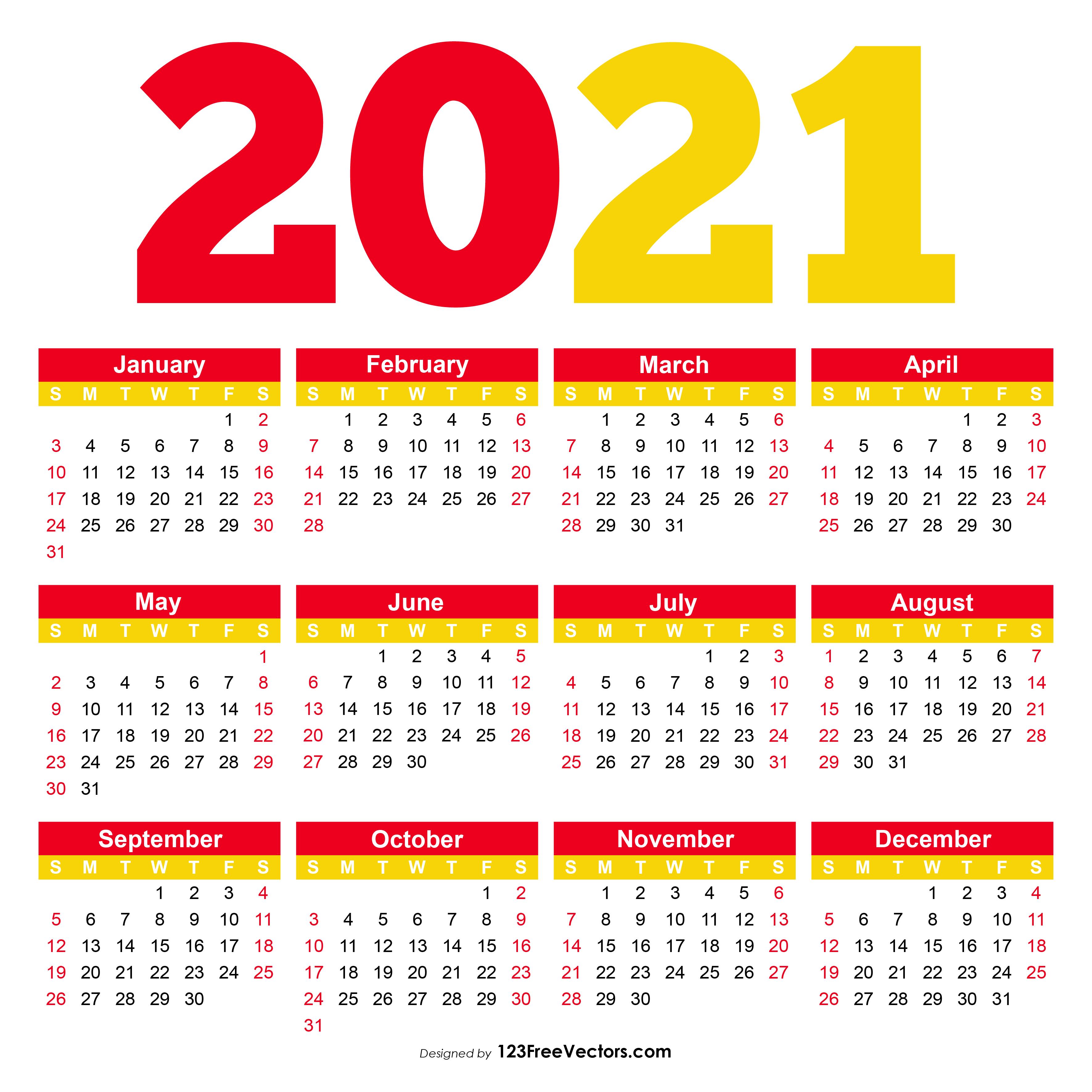 2021 Calendar Pdf Download Free Printable Calendar 2021 Pdf