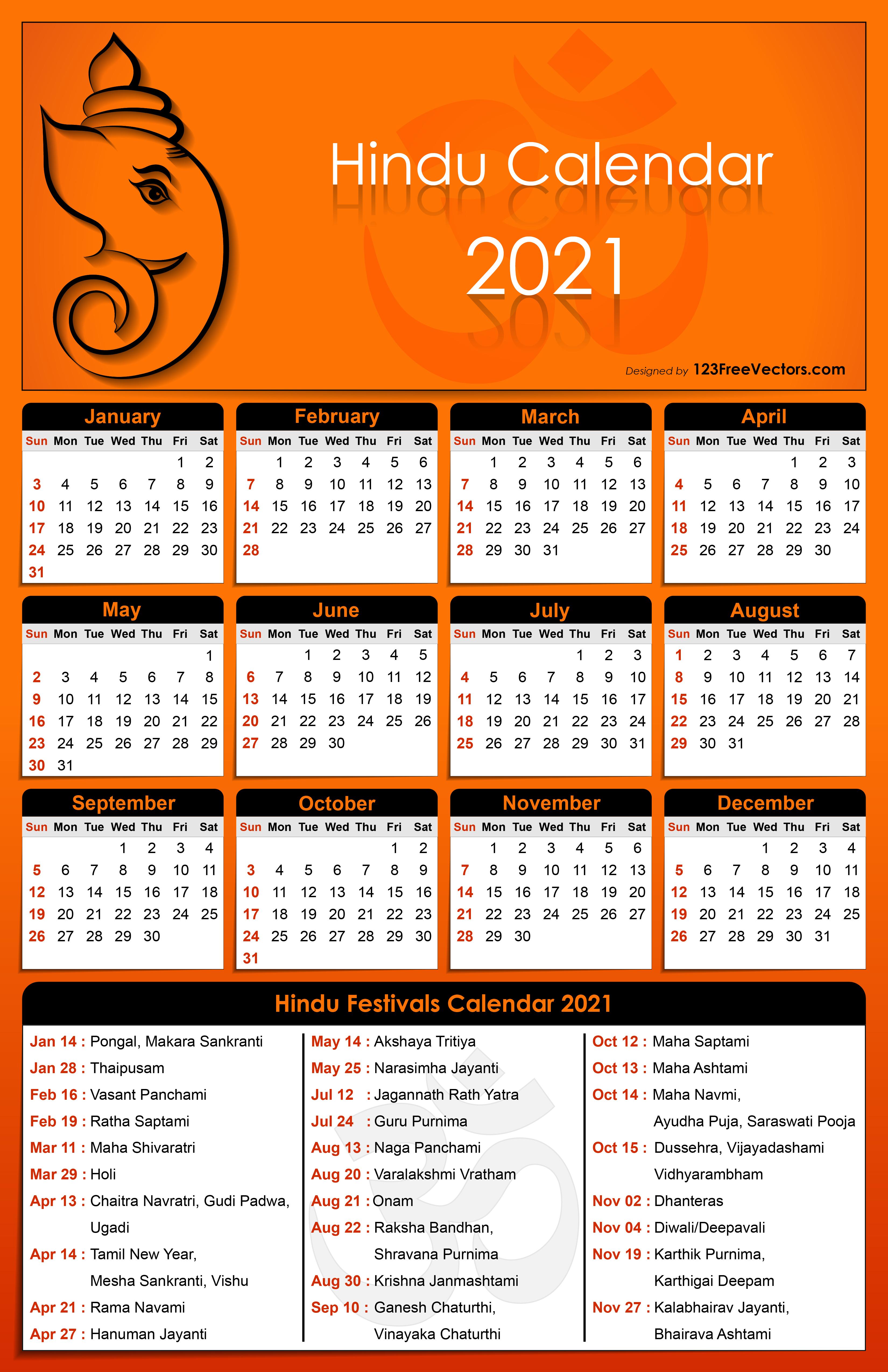 Hindu Festival Calendar 2021 Free Hindu Calendar 2021