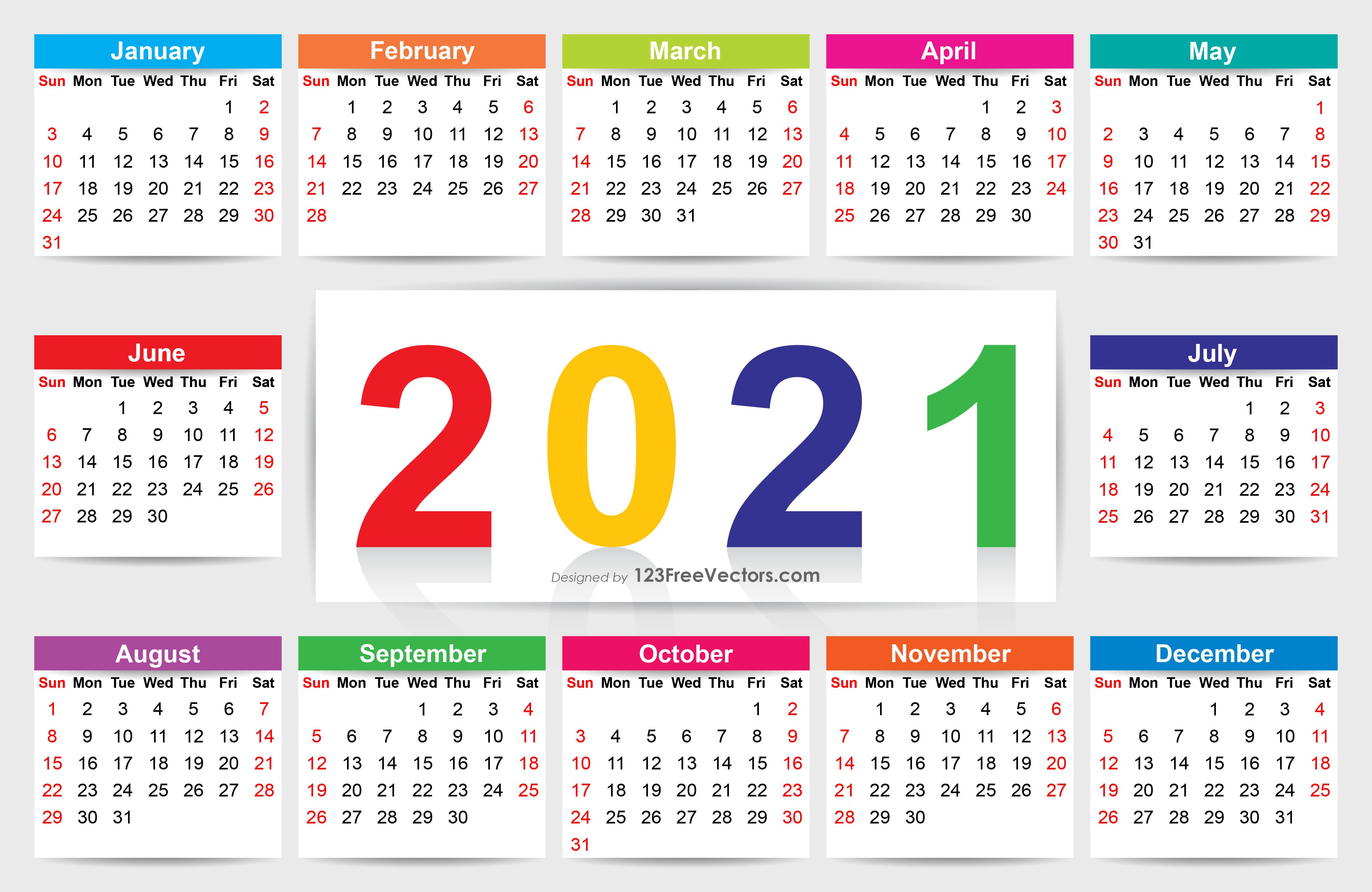 Afbeeldingsresultaat voor 2021 calendar with holidays