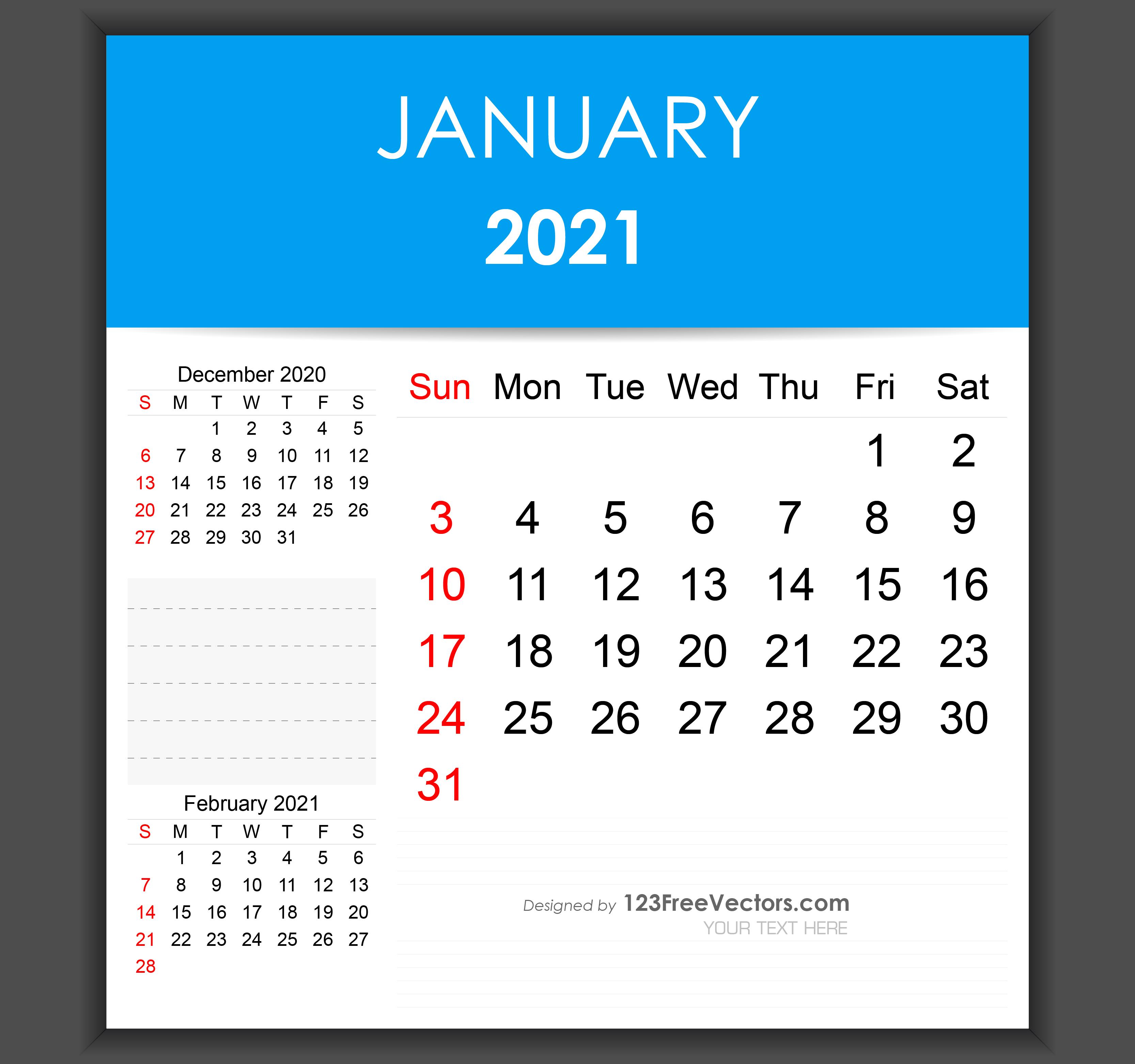 Christmas 2021 Editable Calendar Free Editable January 2021 Calendar Template