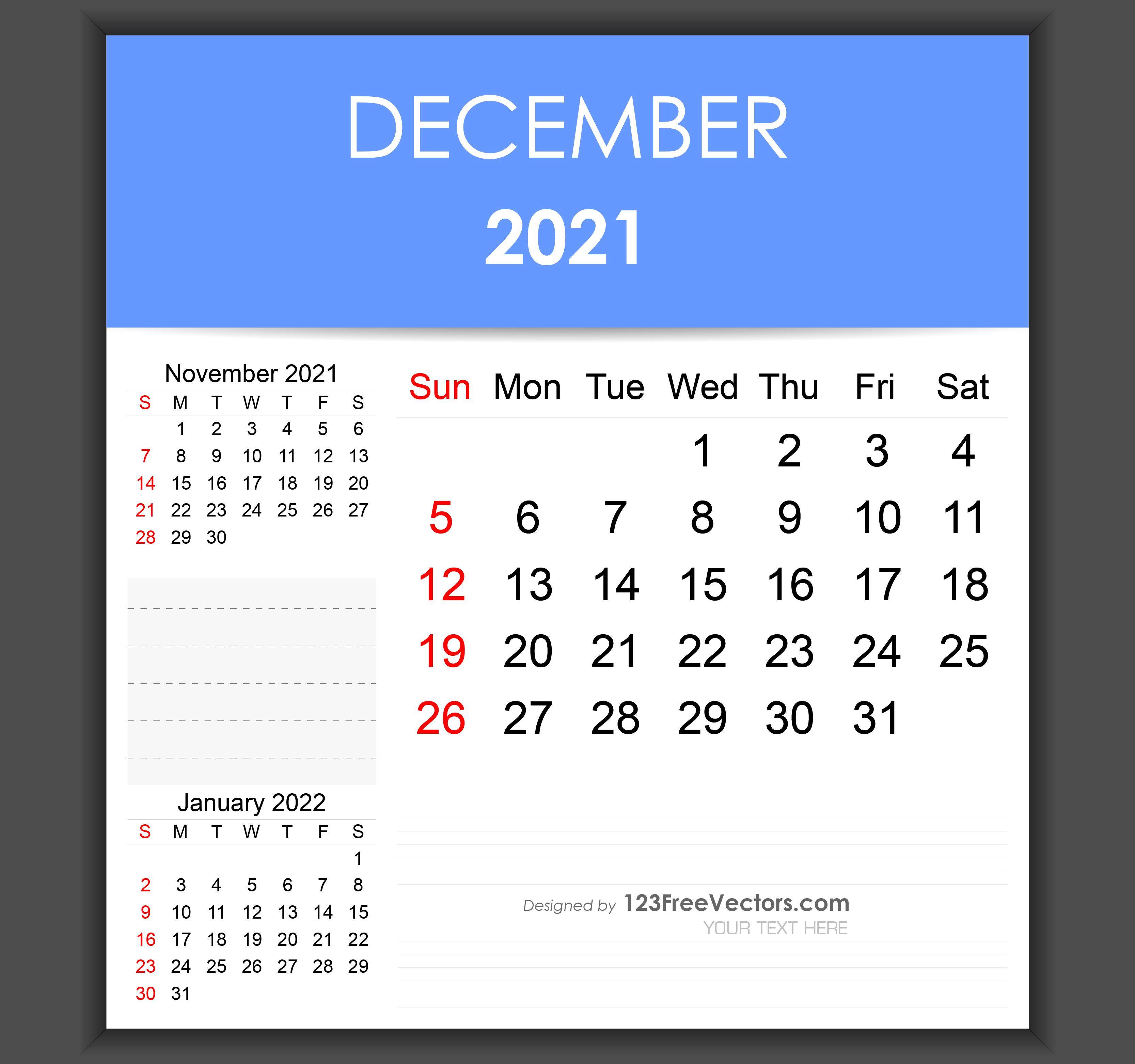 Editable December 2021 Calendar Free Editable December 2021 Calendar Template