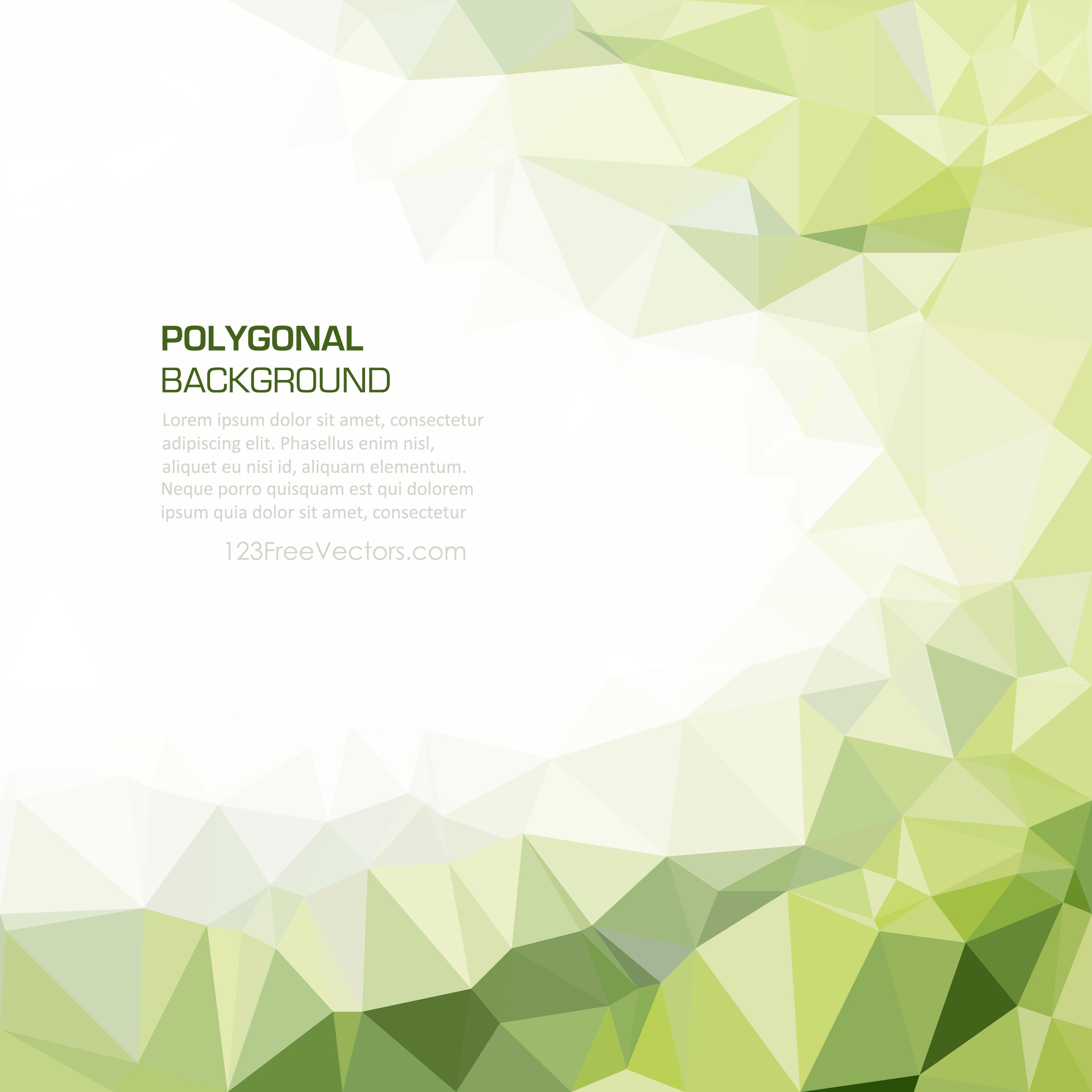Geometric polygon light green wallpaper background 123freevectors aloadofball Images