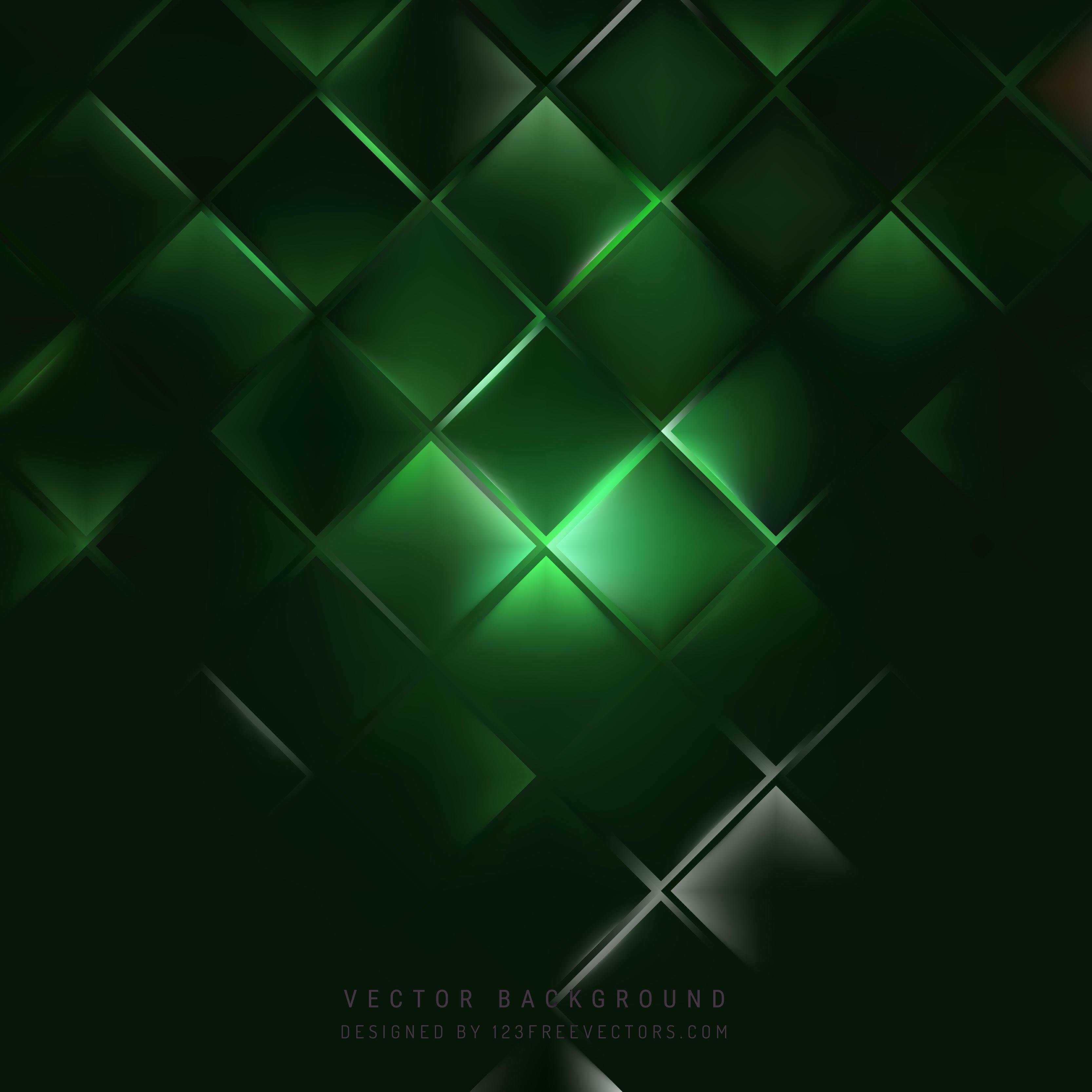 Green Square Wallpaper Dark Green Square Back...