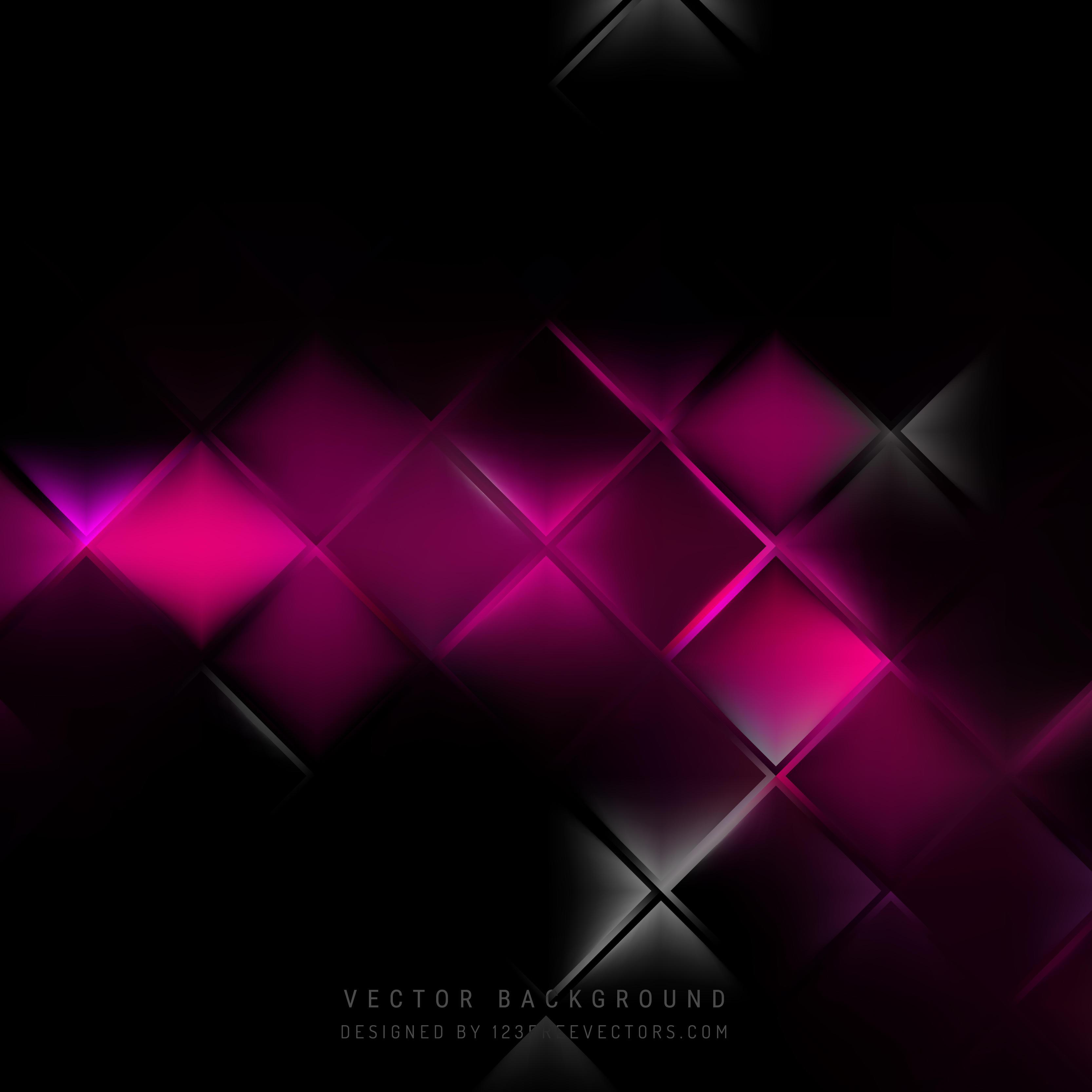 Wallpaper Black Pink: Abstract Black Pink Square Background Design