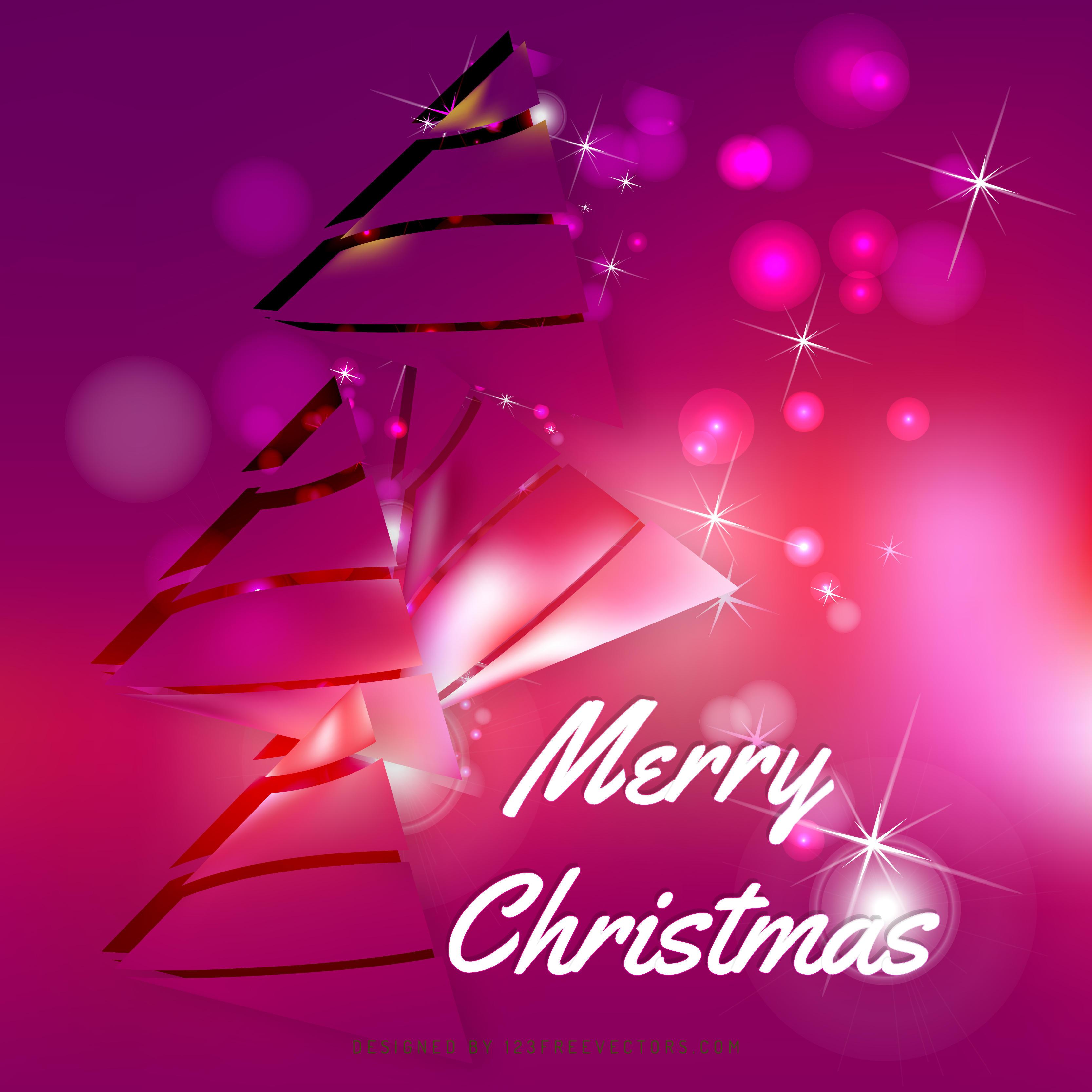 Amaranth Pink Christmas Tree Background