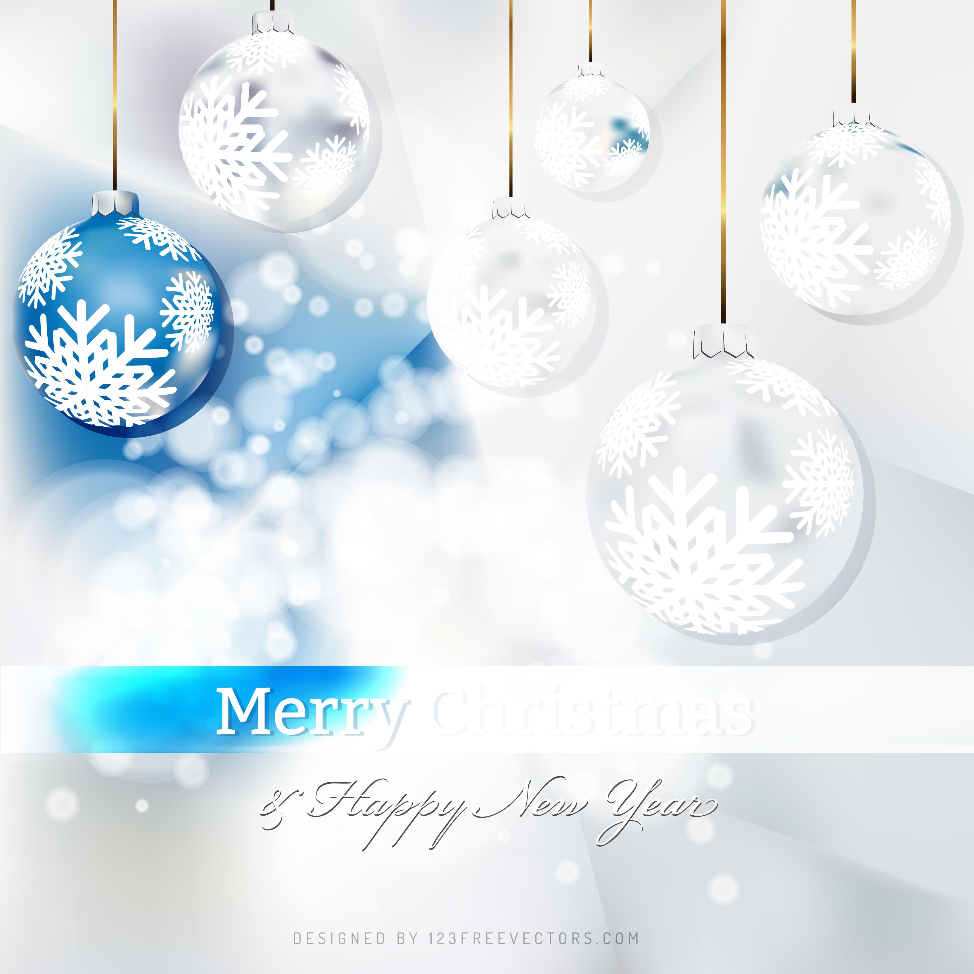 blue white christmas balls background 123freevectors - White Christmas Balls