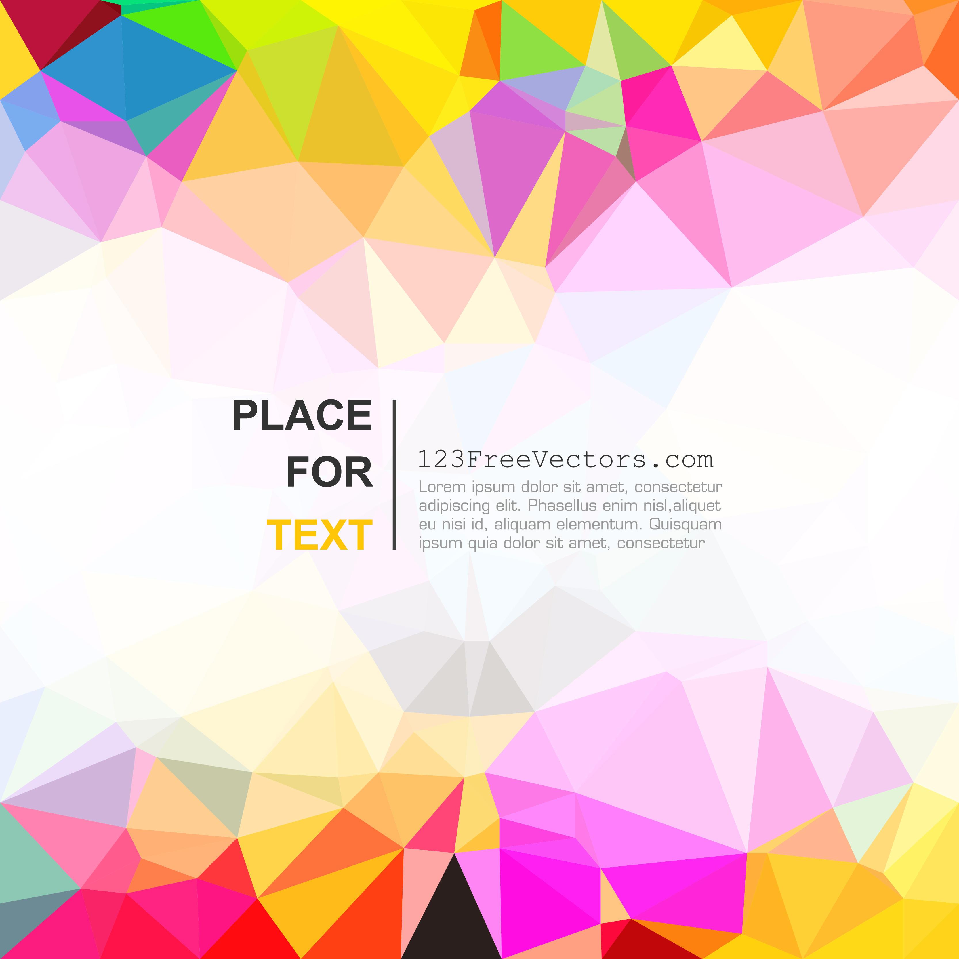 polygonal multicolor background design