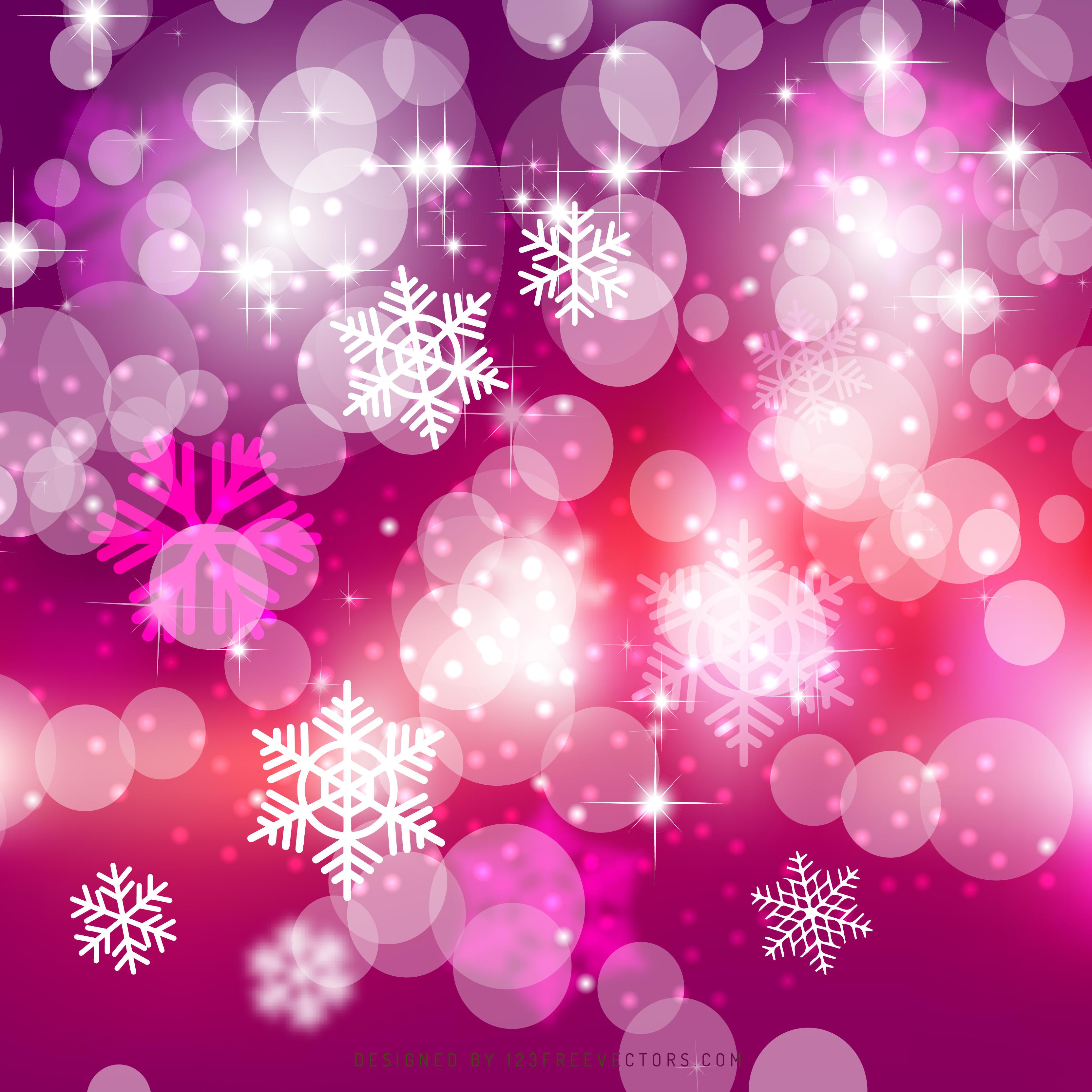 Pink Bokeh Christmas Lights Background Image