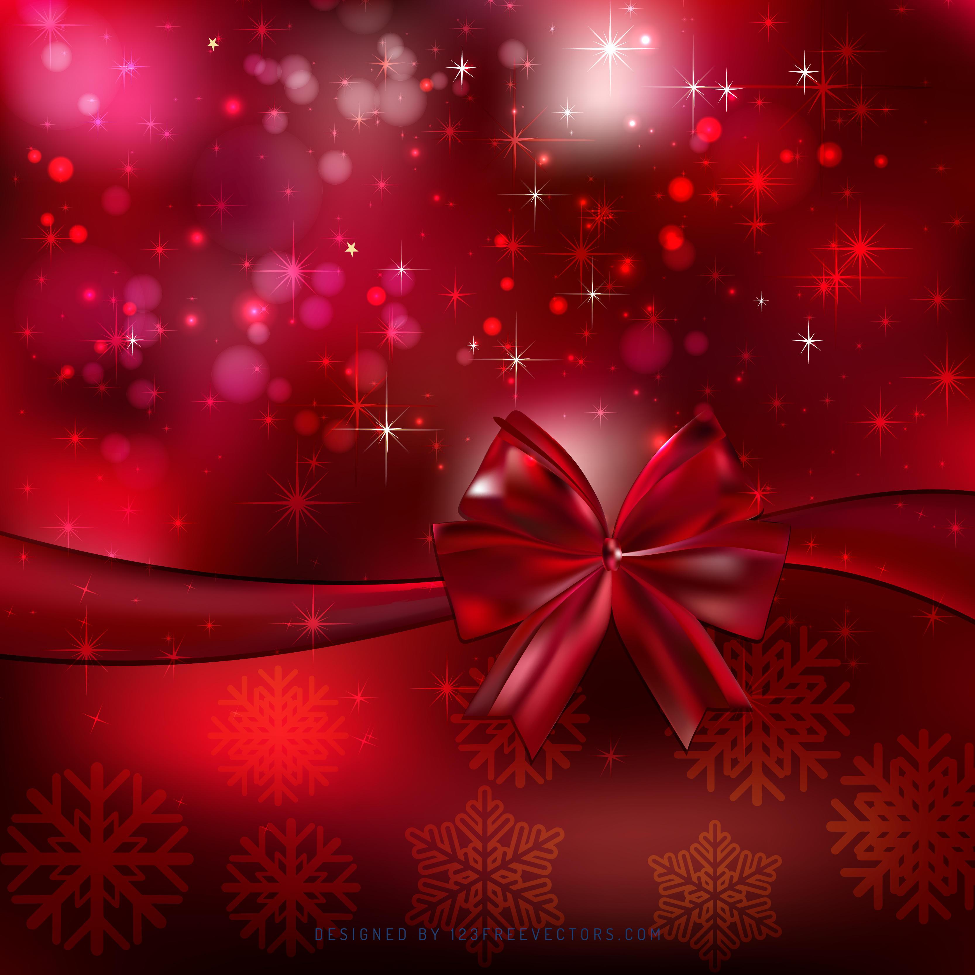 dark red christmas bow background design 123freevectors - Red Christmas Background