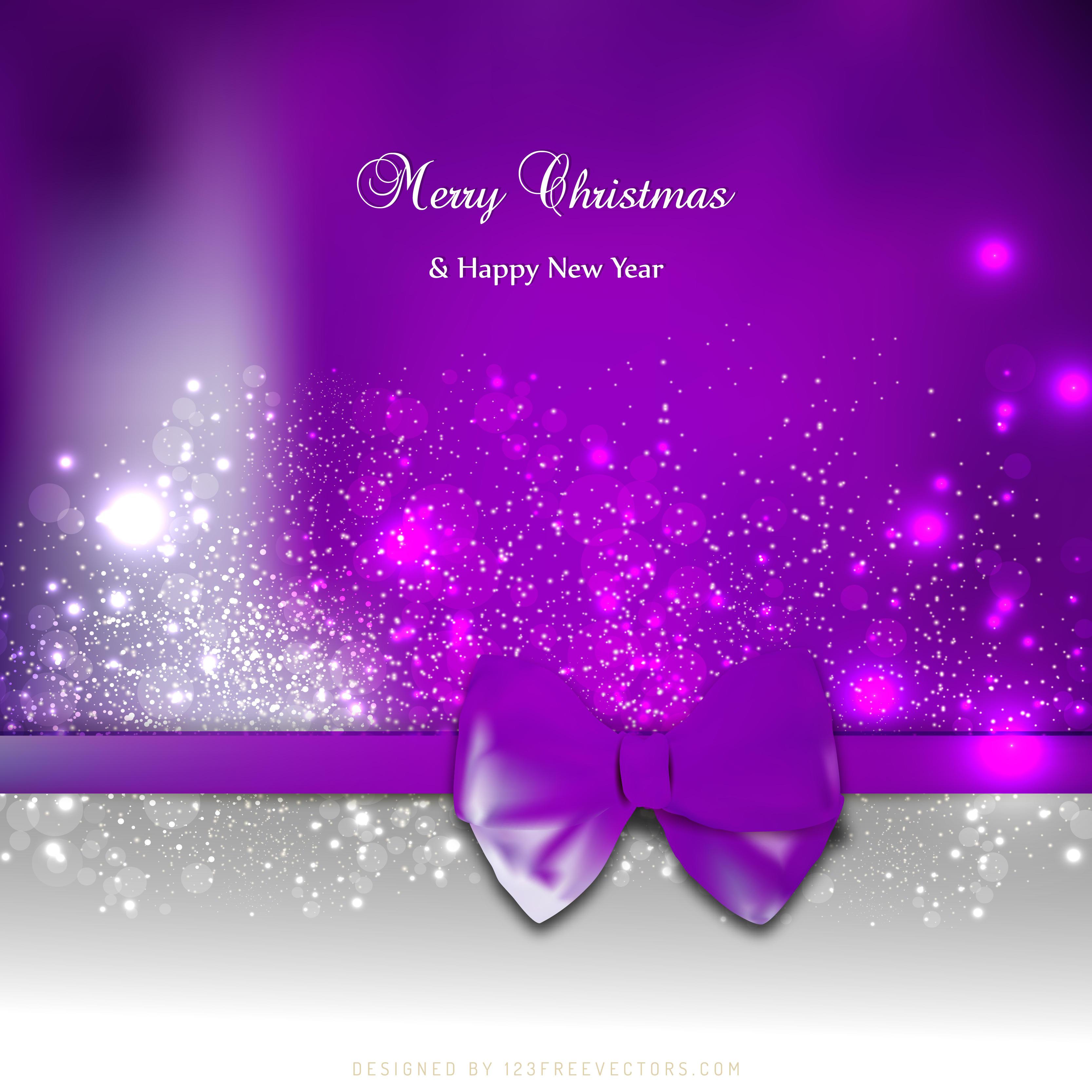 christmas sparkles purple background design 123freevectors