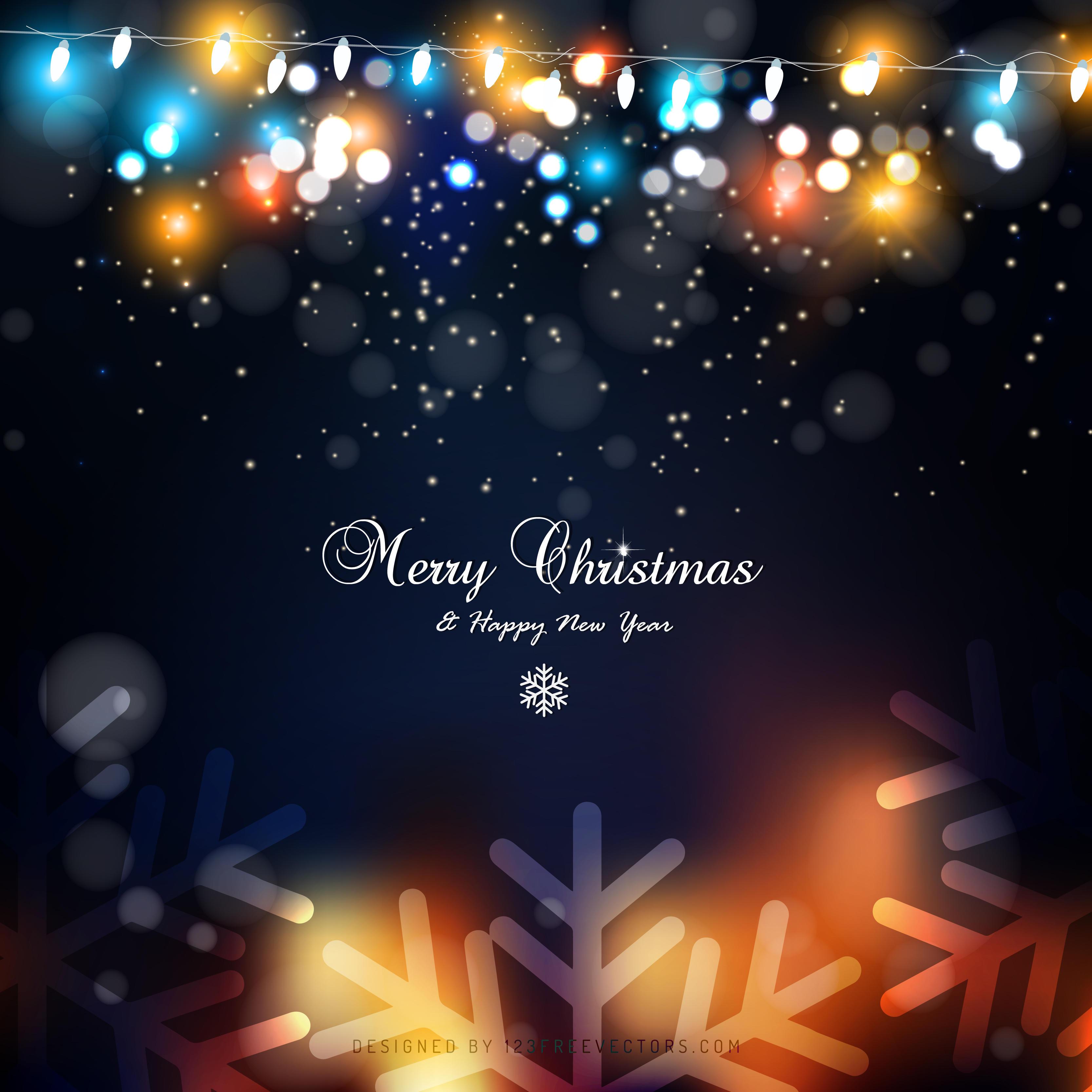blue orange christmas lights background image 123freevectors