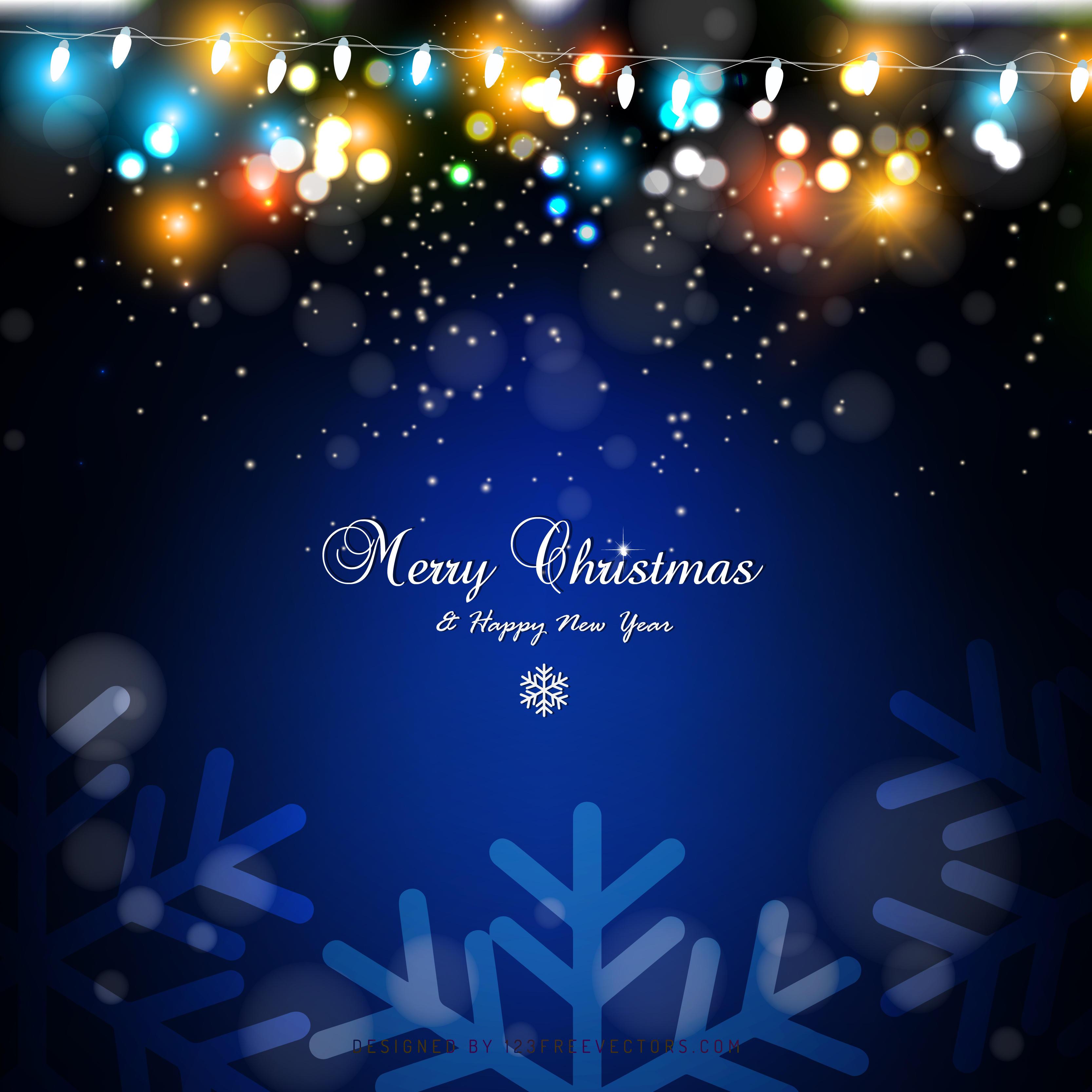 blue green christmas lights background graphics 123freevectors - Blue And Green Christmas Lights