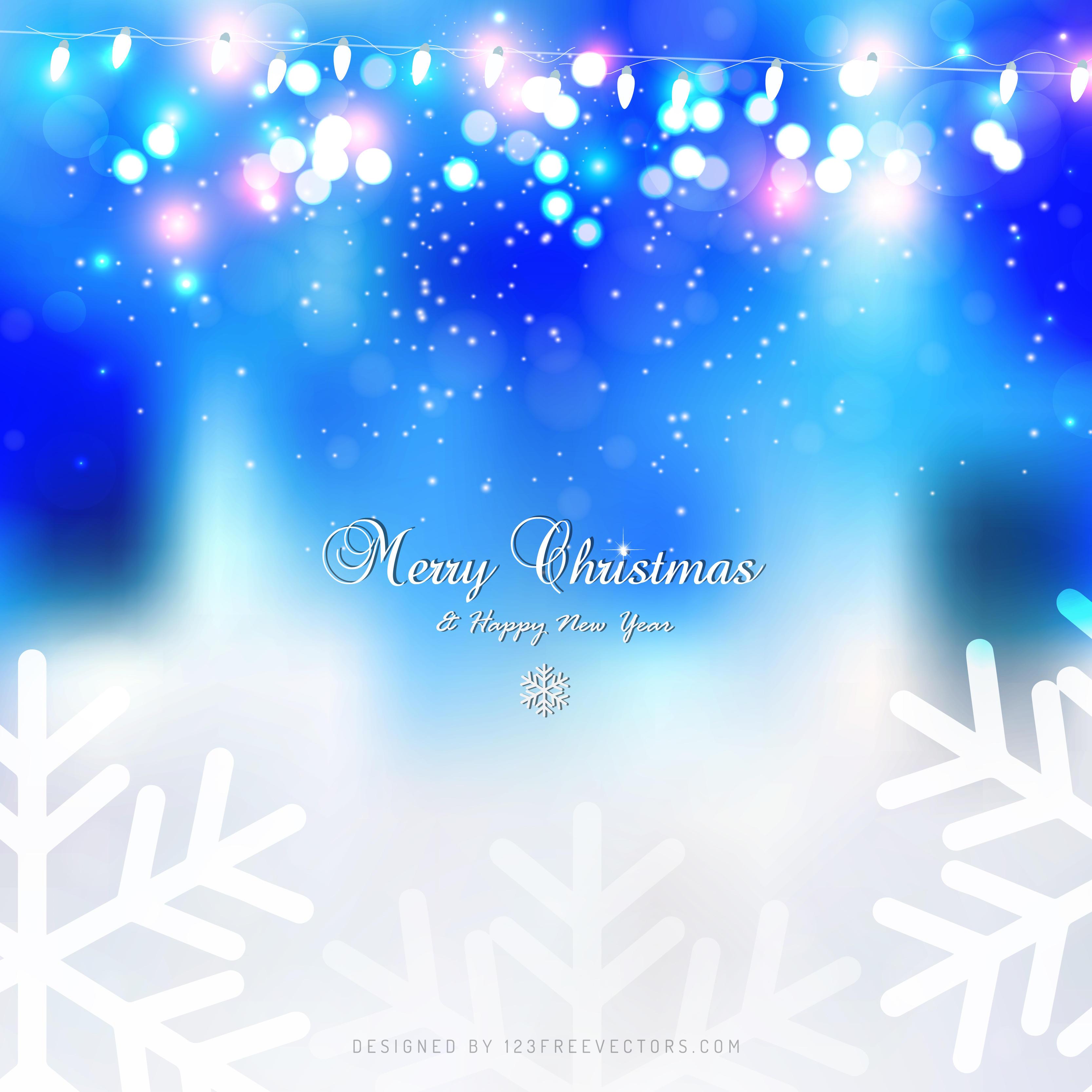 light blue christmas lights background 123freevectors - Light Blue Christmas Lights