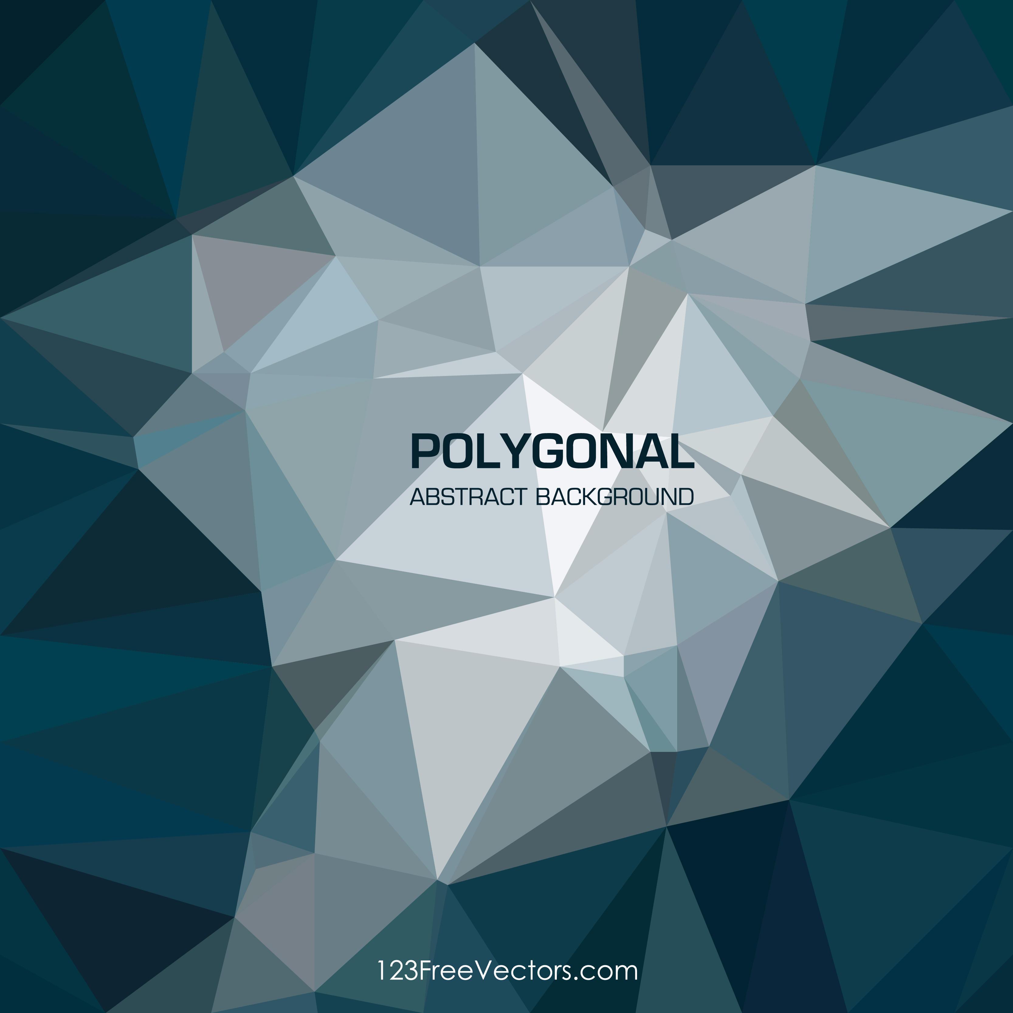 Dark Blue Geometric Polygon Background Graphics