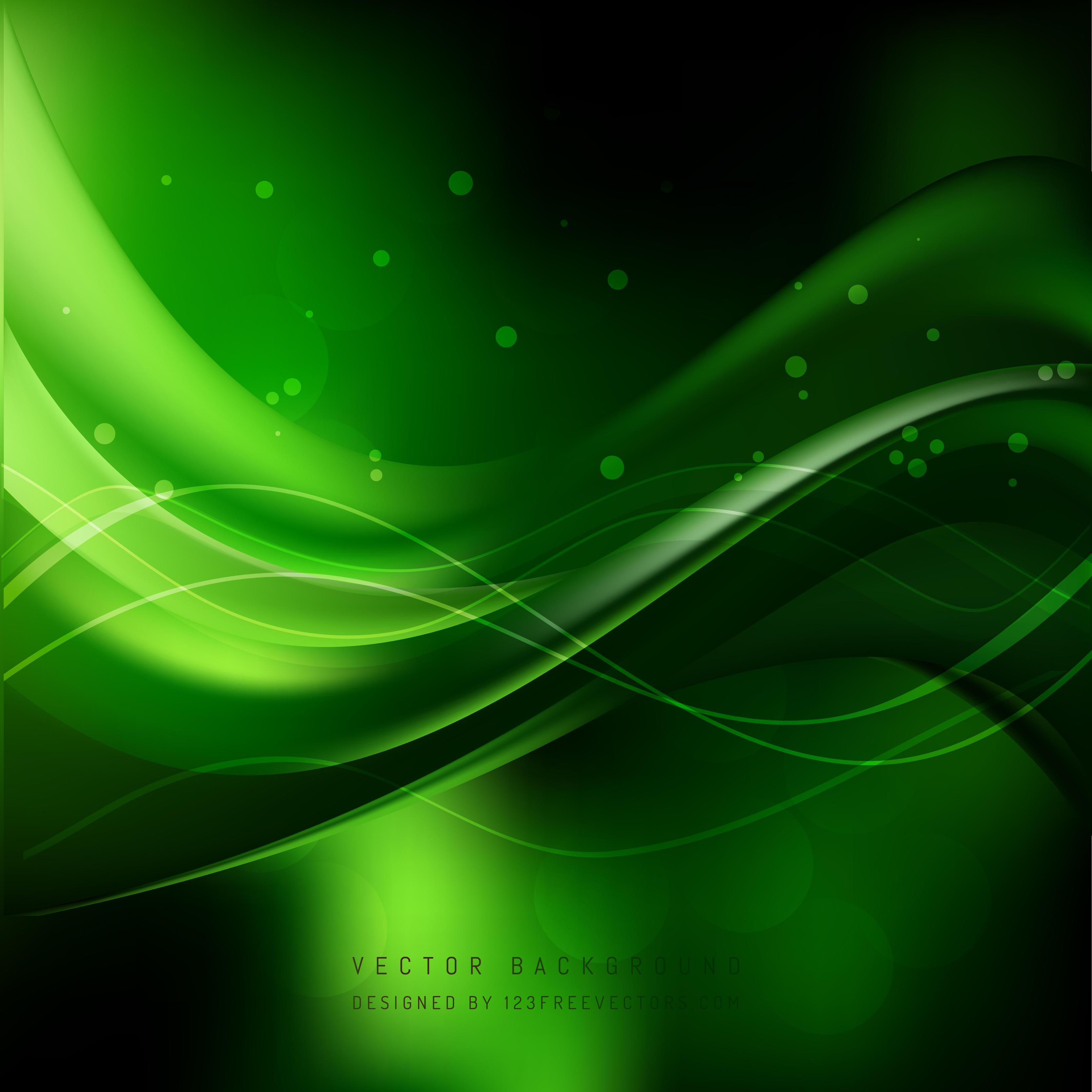 Black Green Wave Background Image