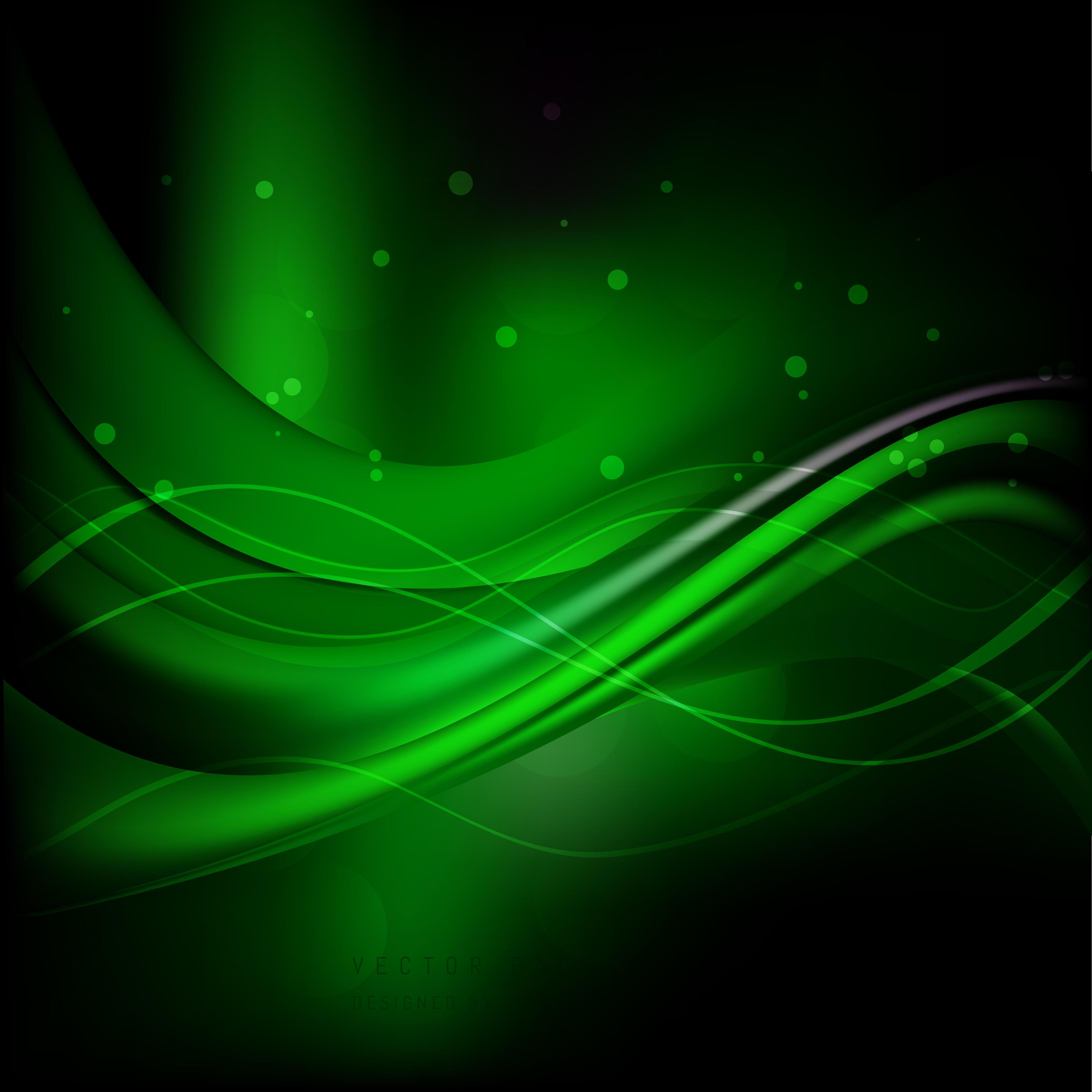 Black Green Wave Background Design
