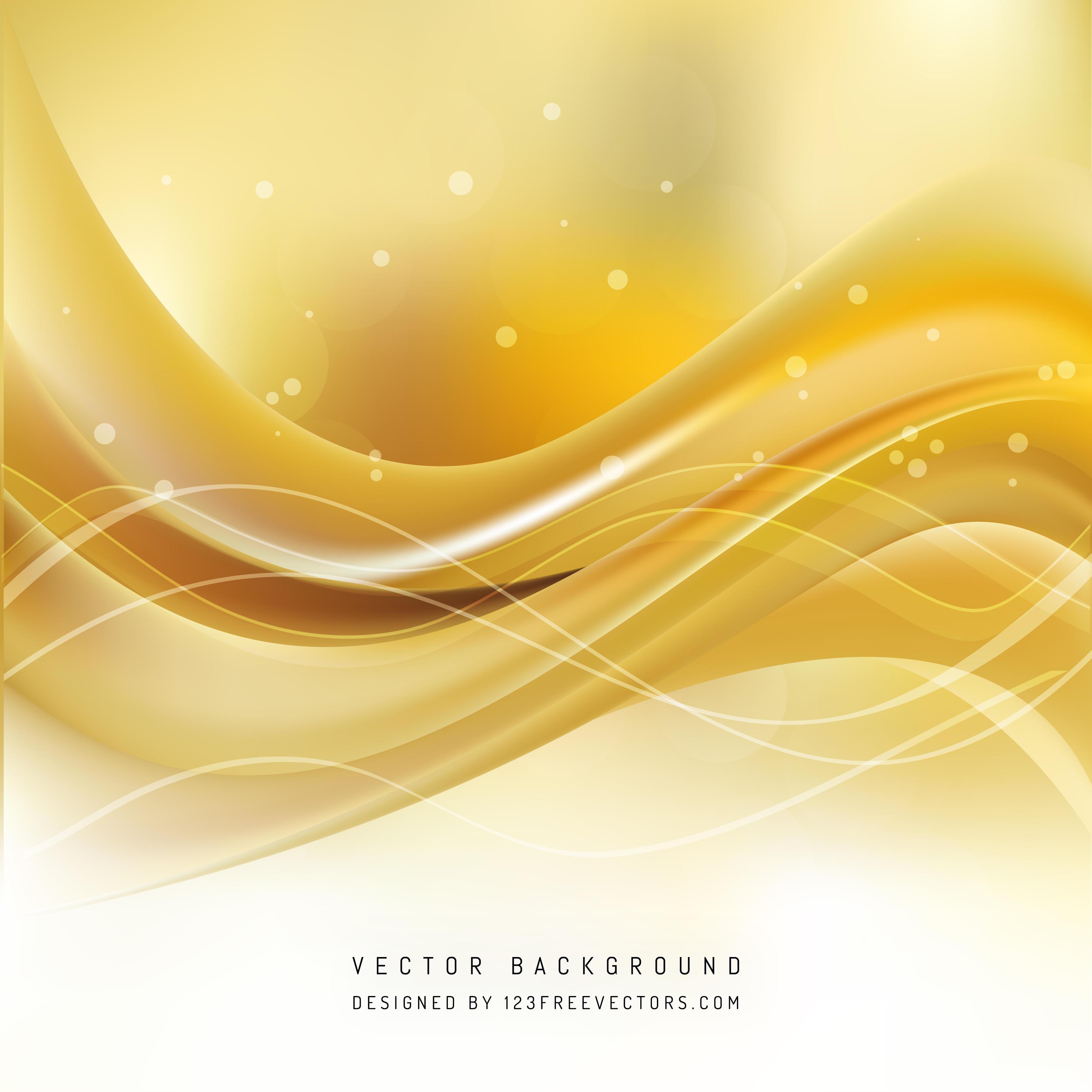 Yellow Wave Background Design