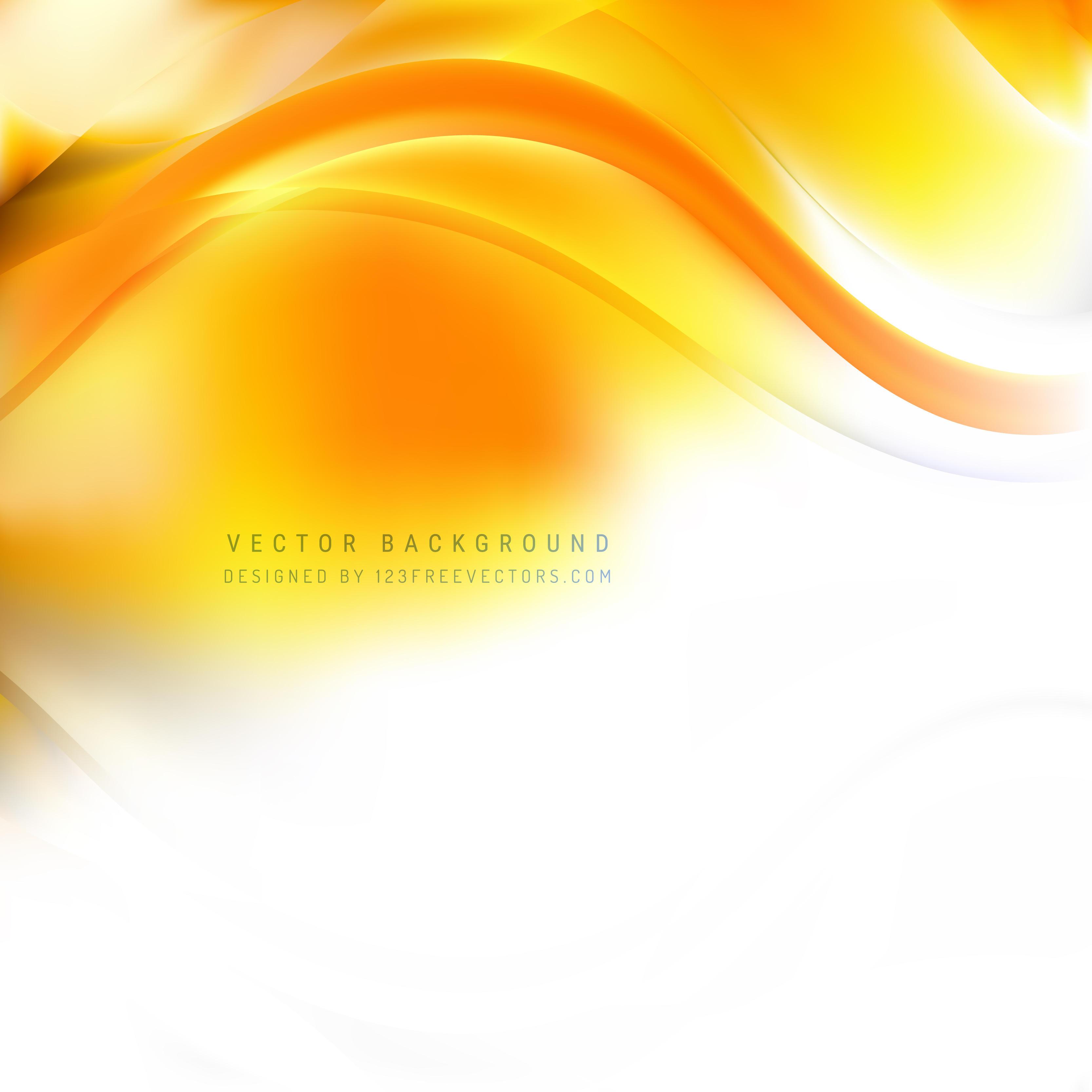 Yellow Orange Wave Design Background | 123Freevectors