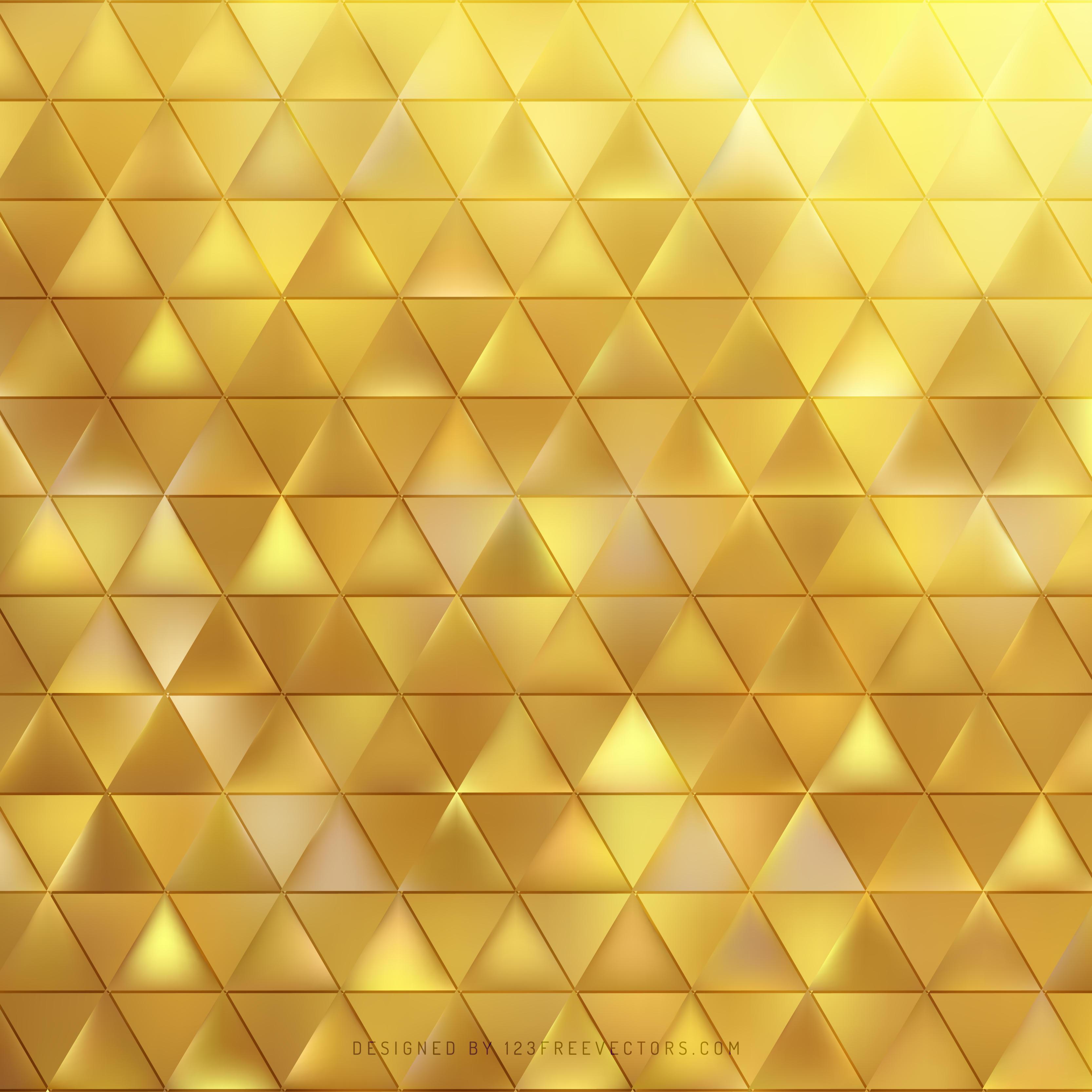 Gold Triangle Background Design